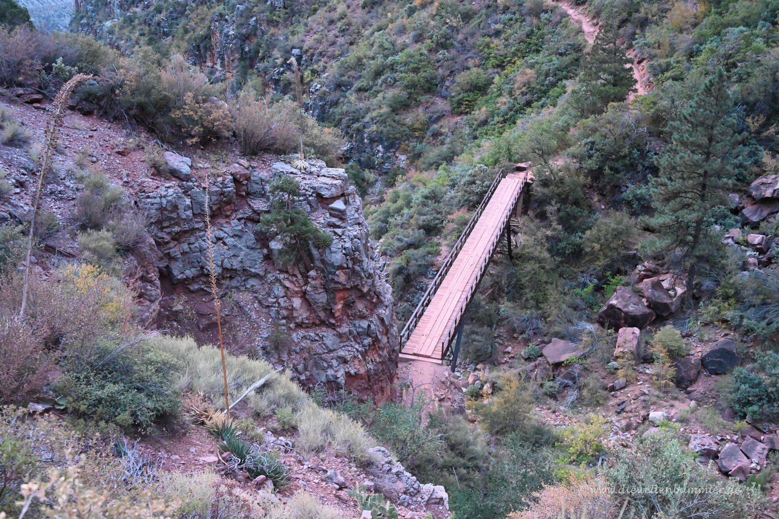 Brücke im Nebencanyon