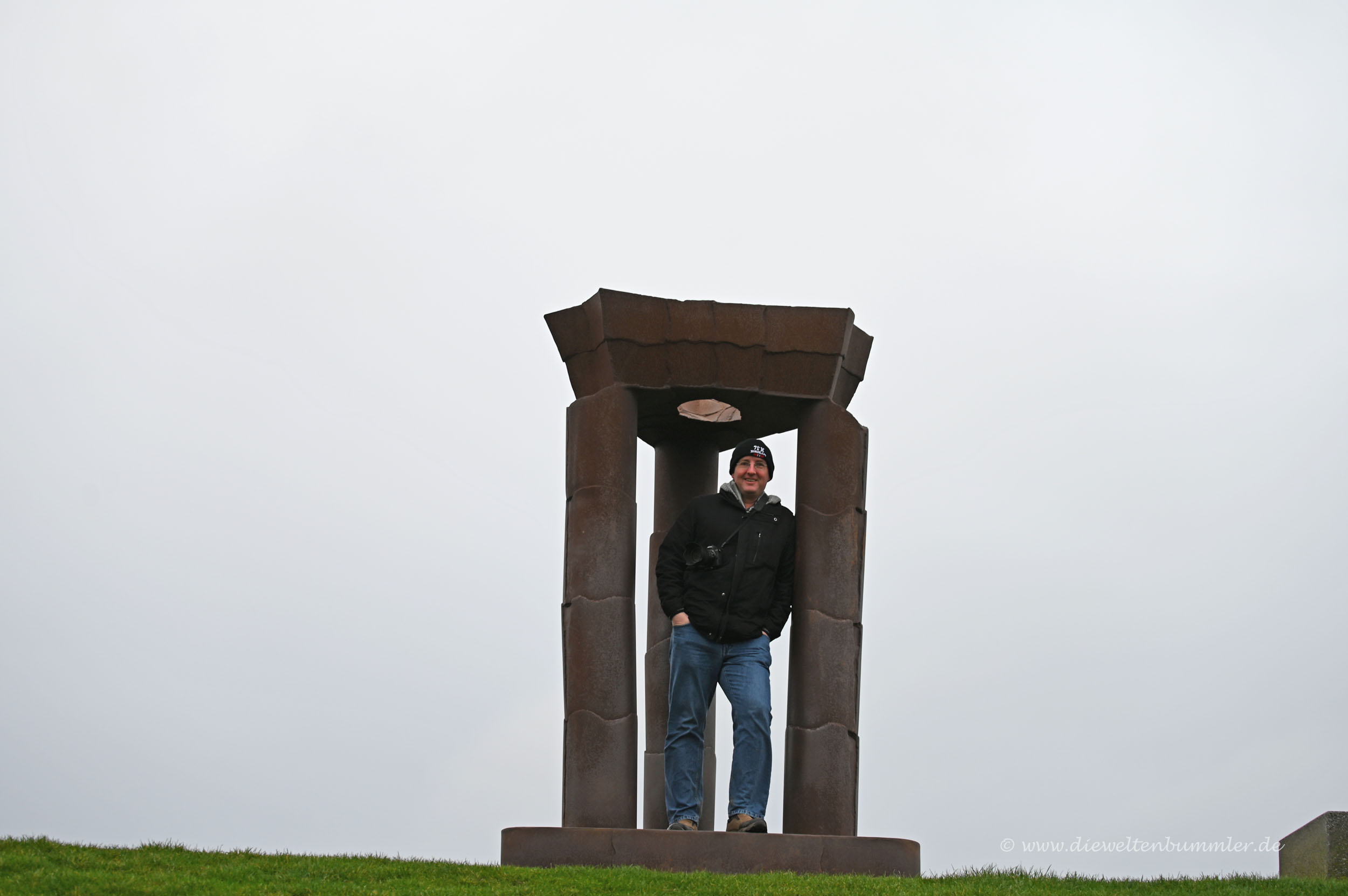 Am Noordkaap mit Nordkap-Mütze