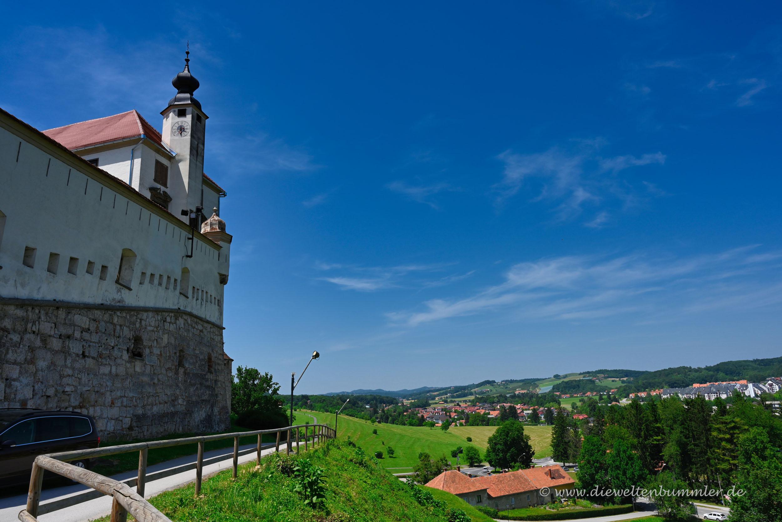 Ausblick an der Burg Ptuj
