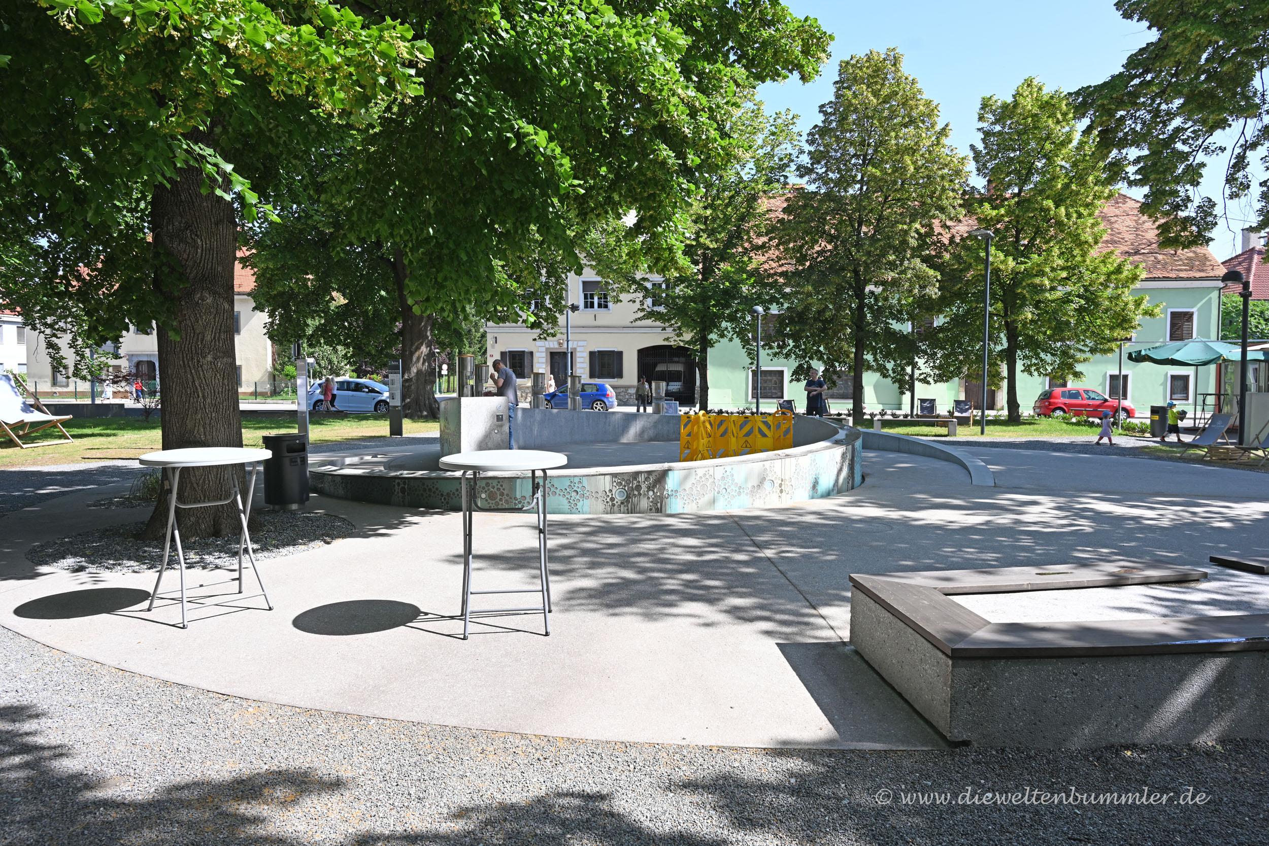Bierbrunnen in Slowenien