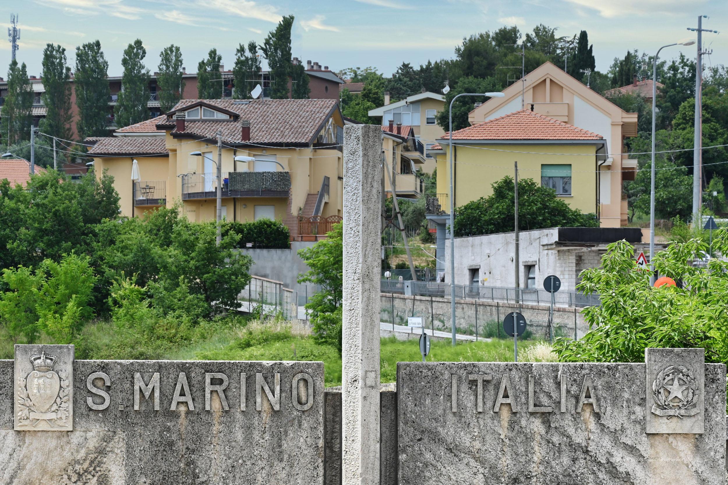 Grenze zwischen San Marino und Italien