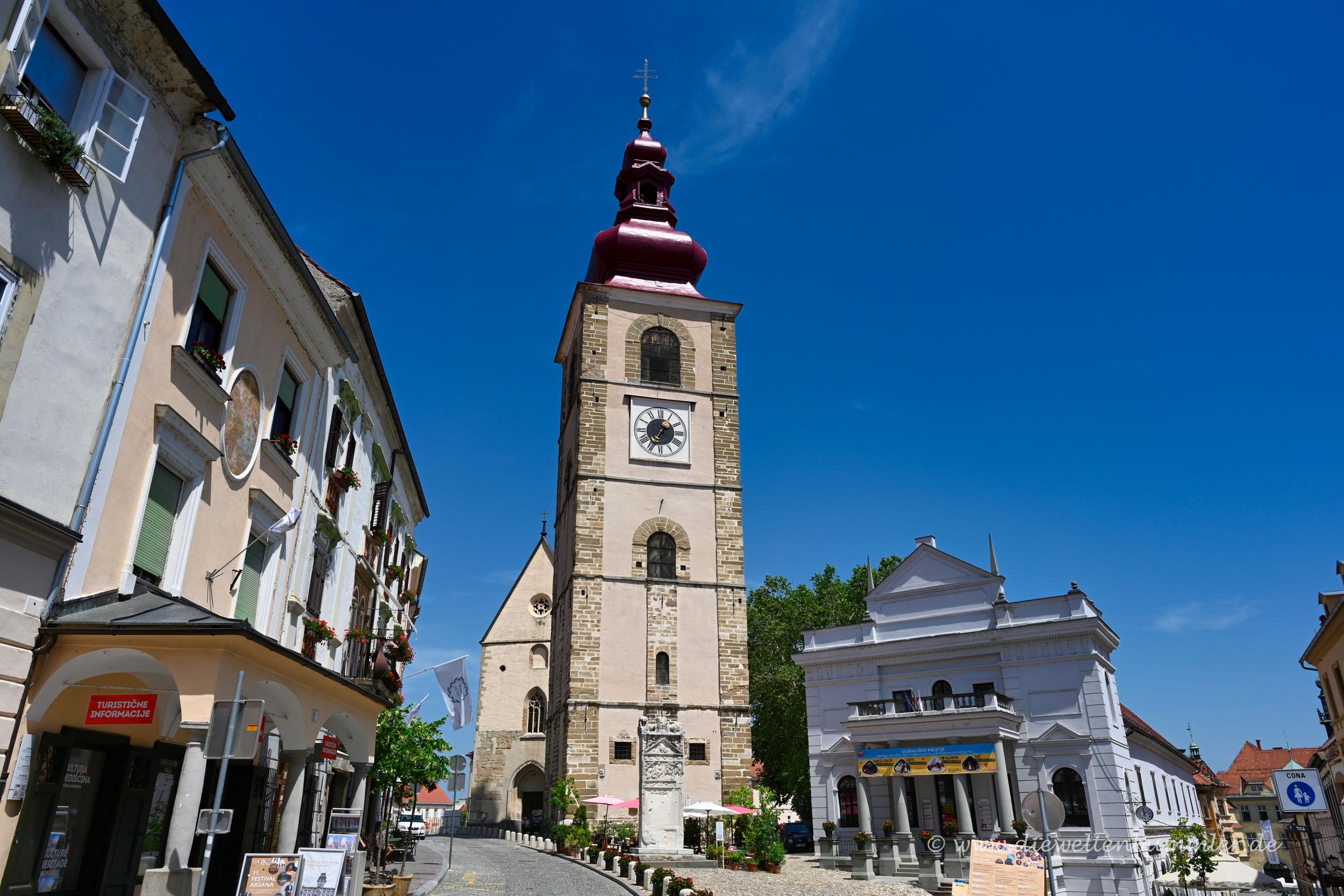 Kirchturm in Ptuj