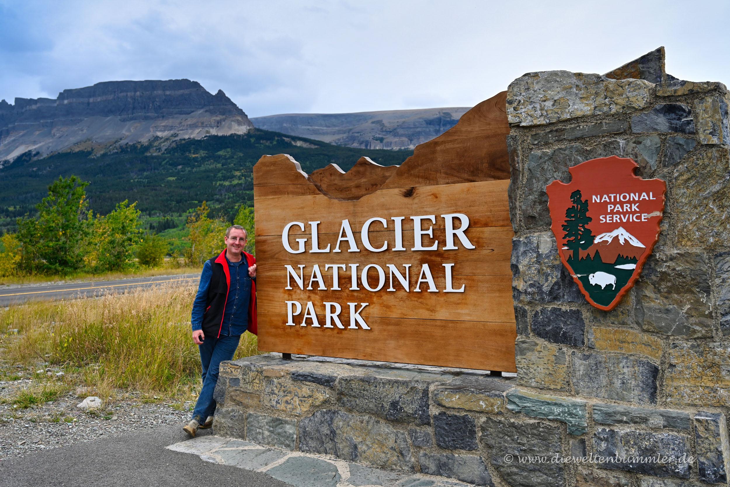 Michael Moll am Glacier Nationalpark
