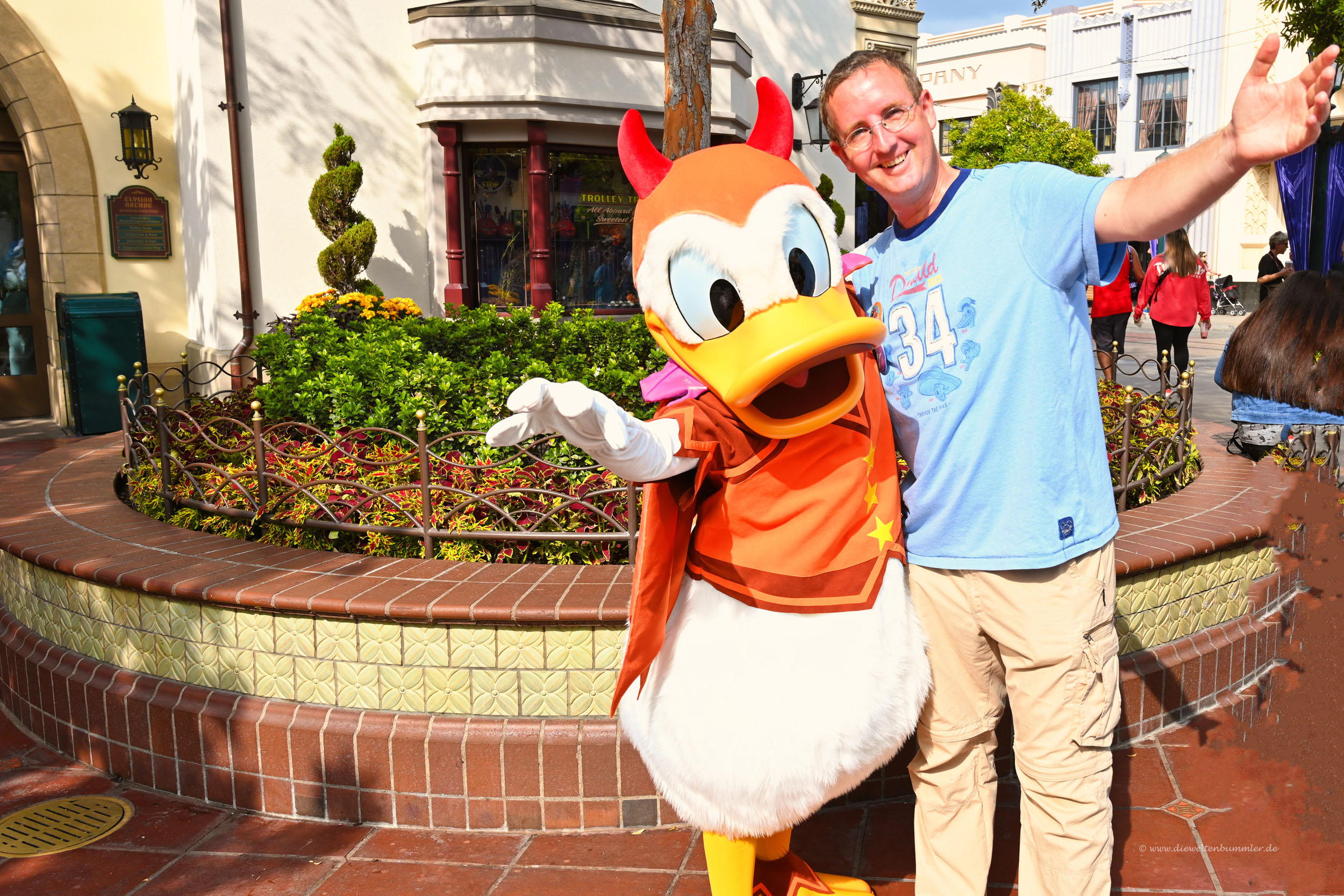 Michael Moll mit Donald Duck