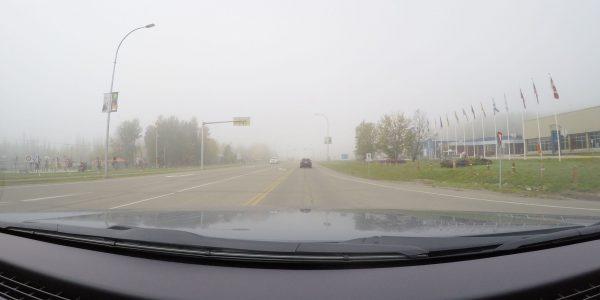 Nebel in Fort Nelson