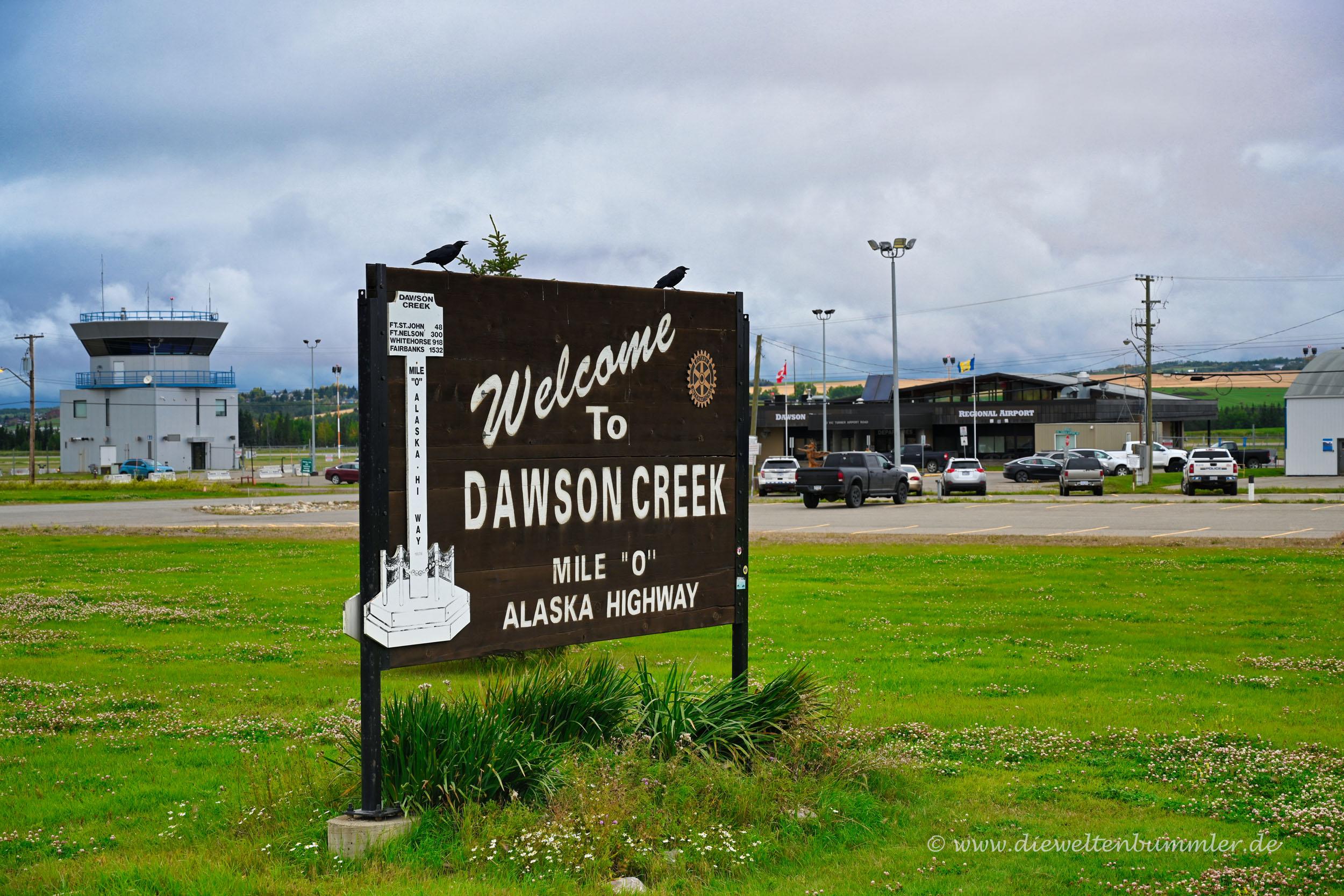 Ortseingang Dawson Creek