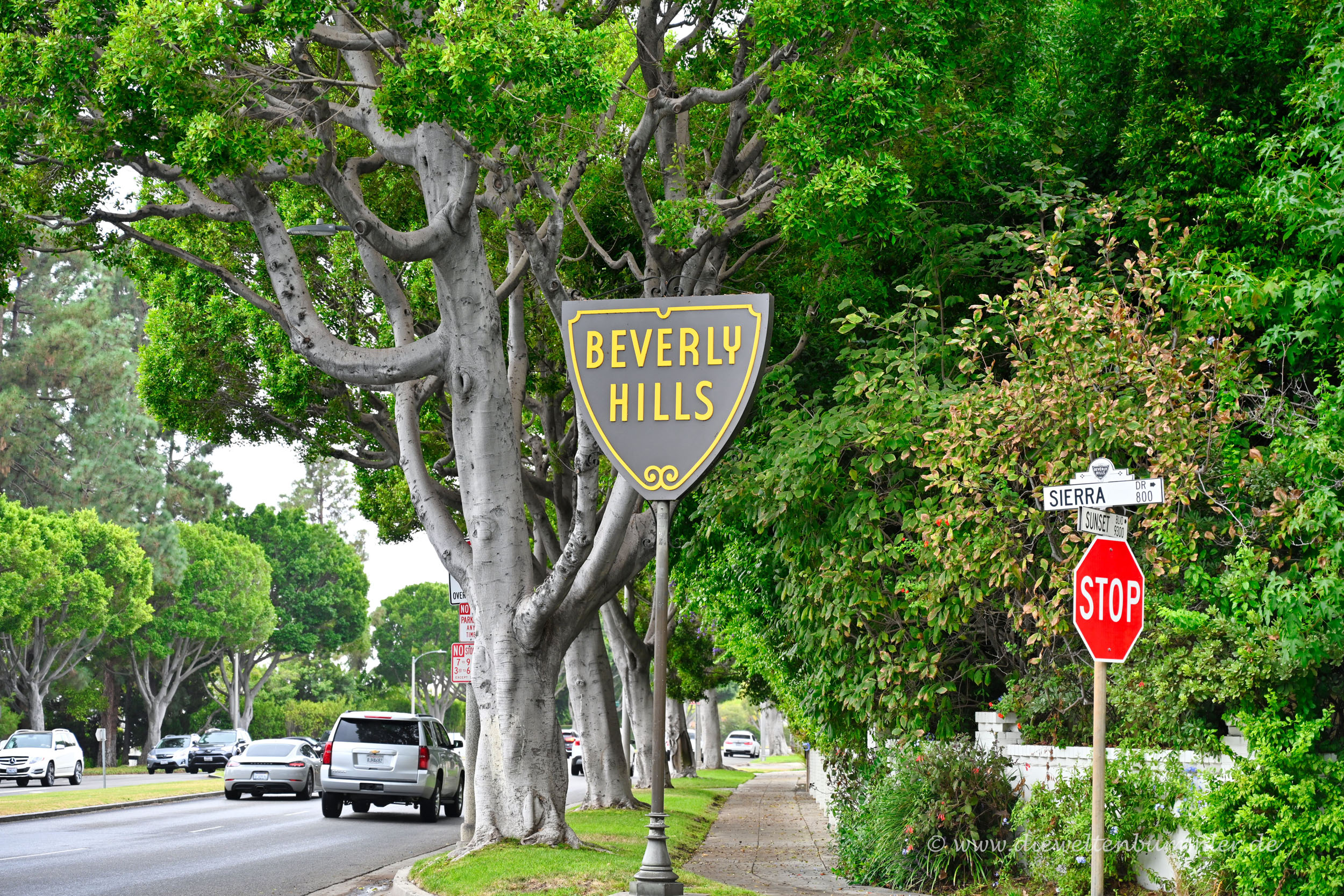 Sozusagen das Ortsschild von Beverly Hills