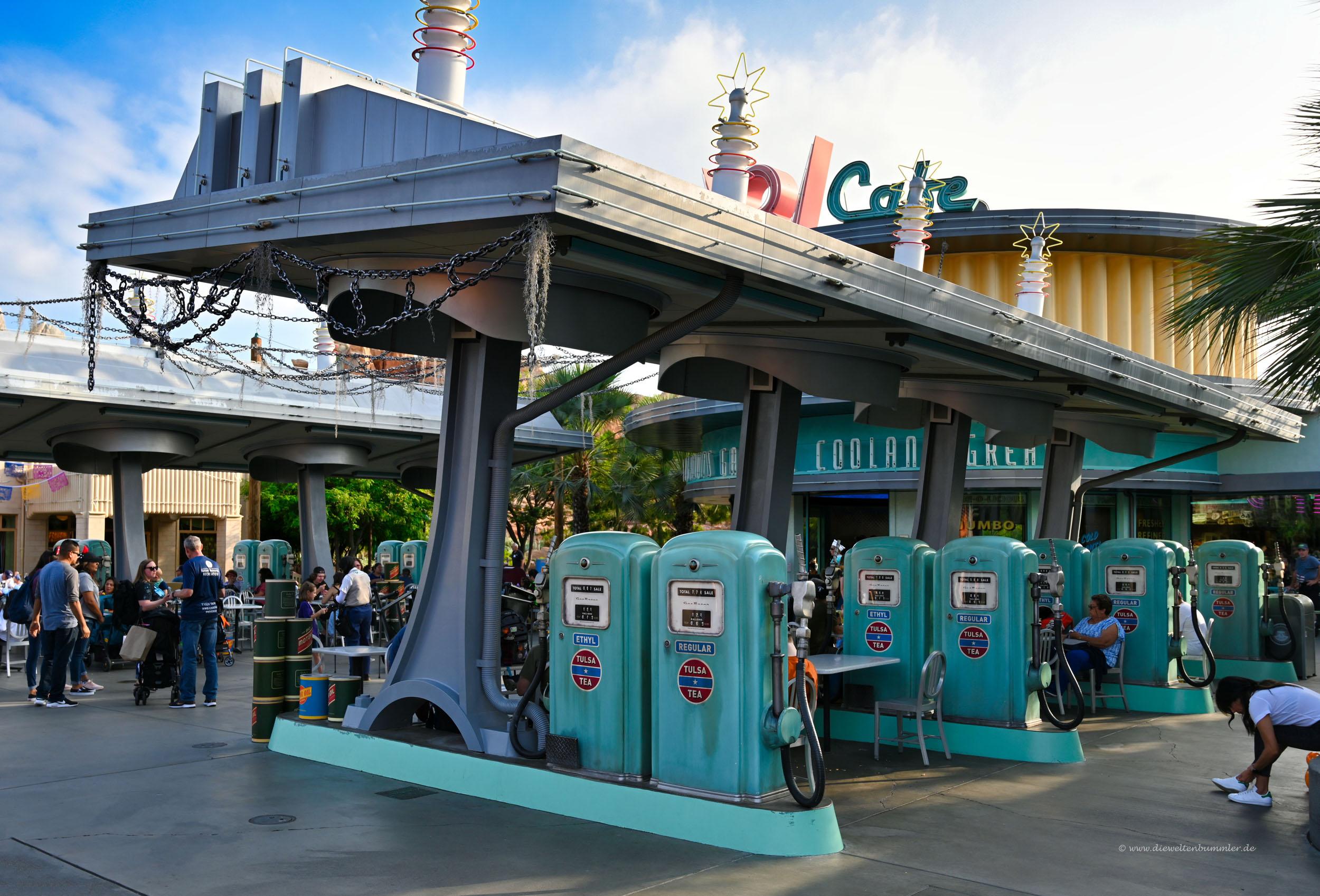 Tankstelle in Cars Land