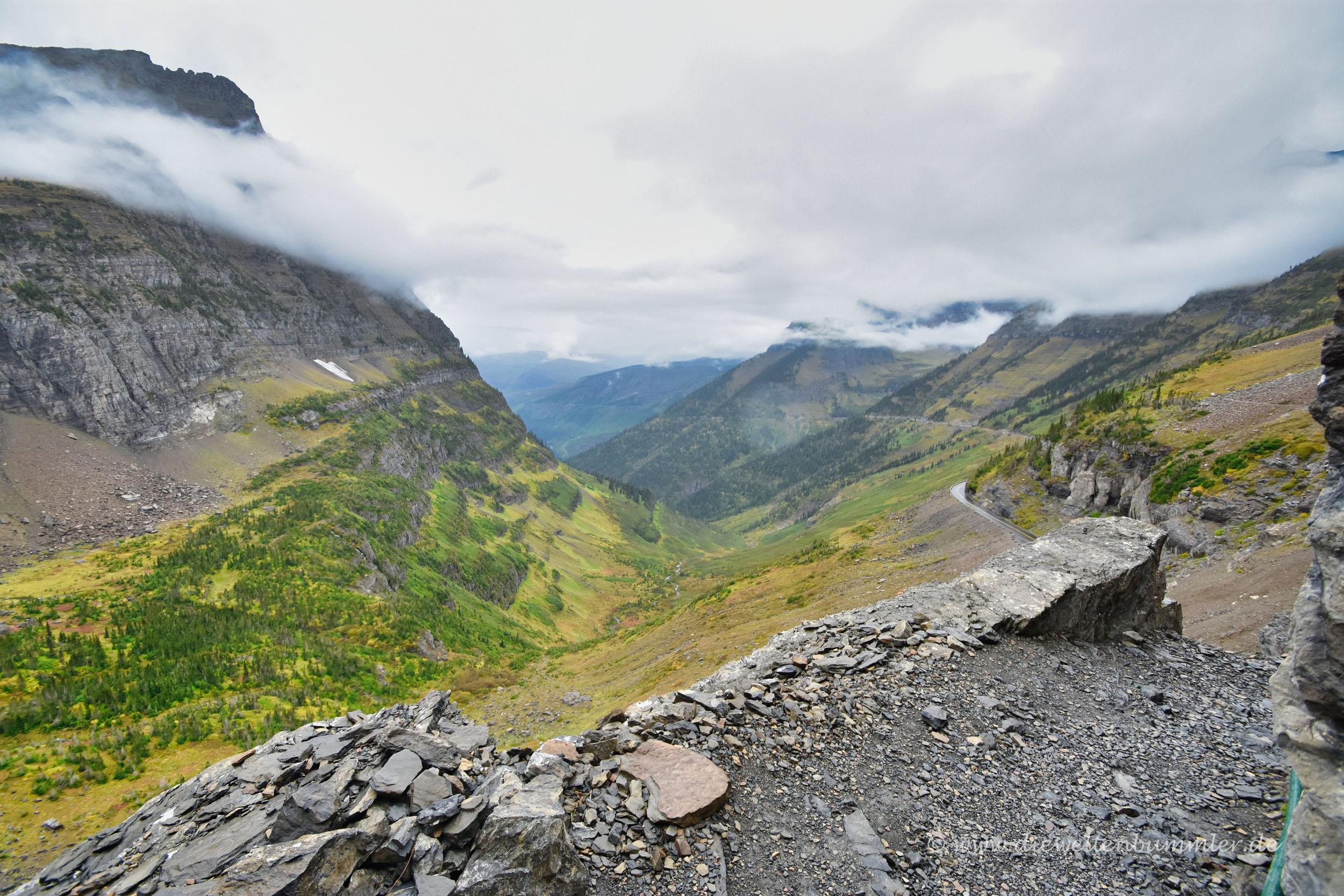 Toller Ausblick vom Logan Pass