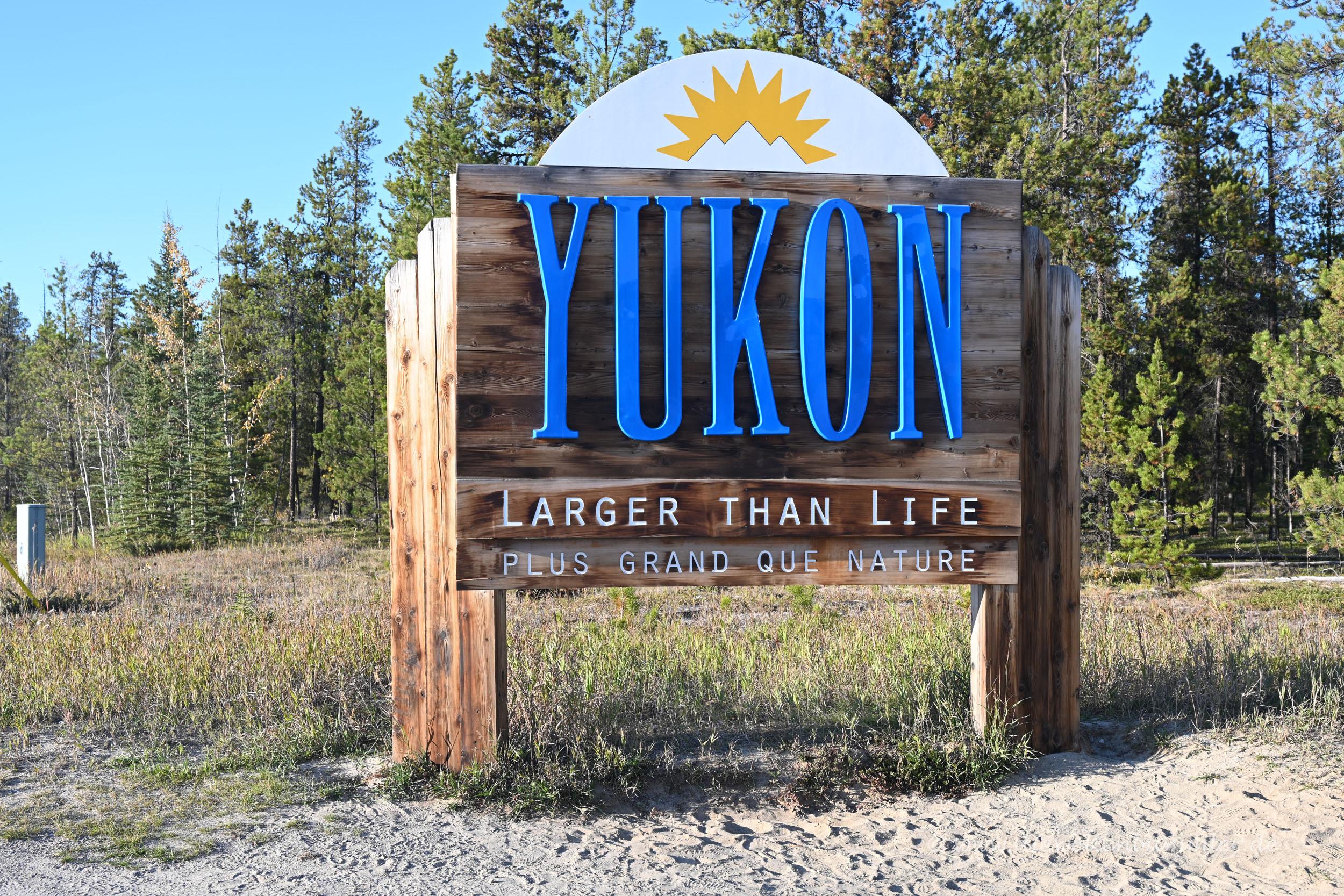 Welcome Sign im Yukon