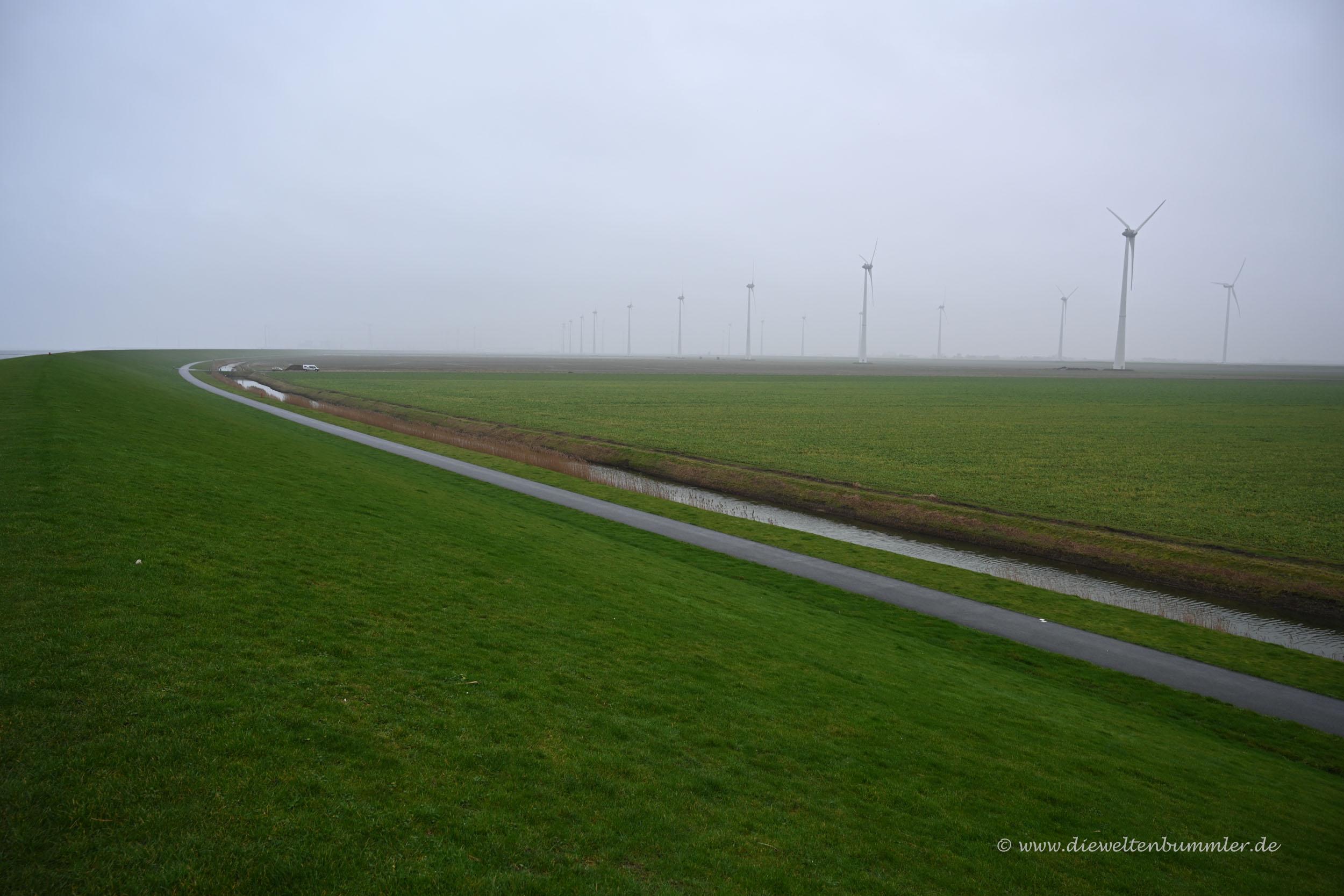 Windräder am Noordkaap