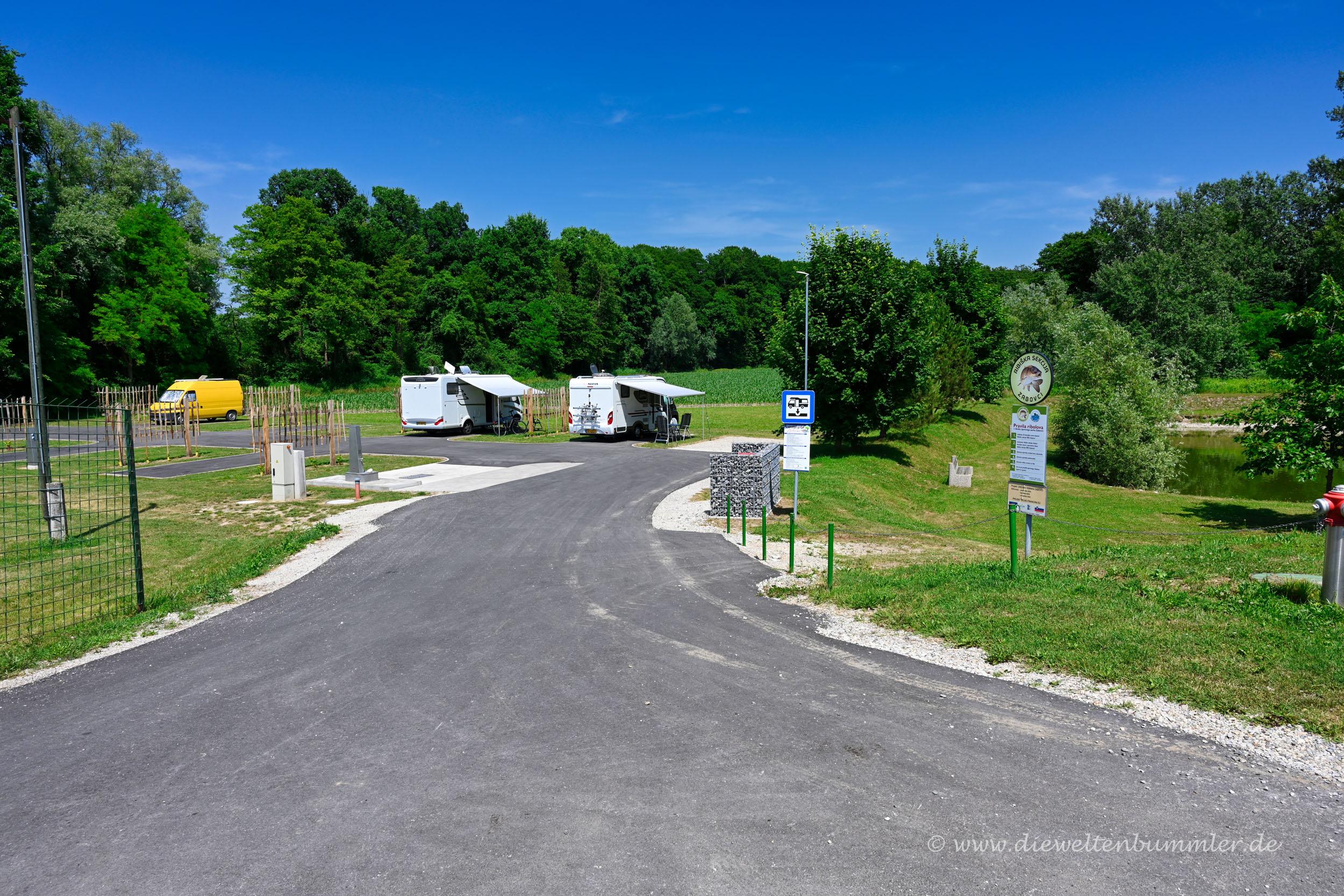 Wohnmobilstellplatz in Slowenien