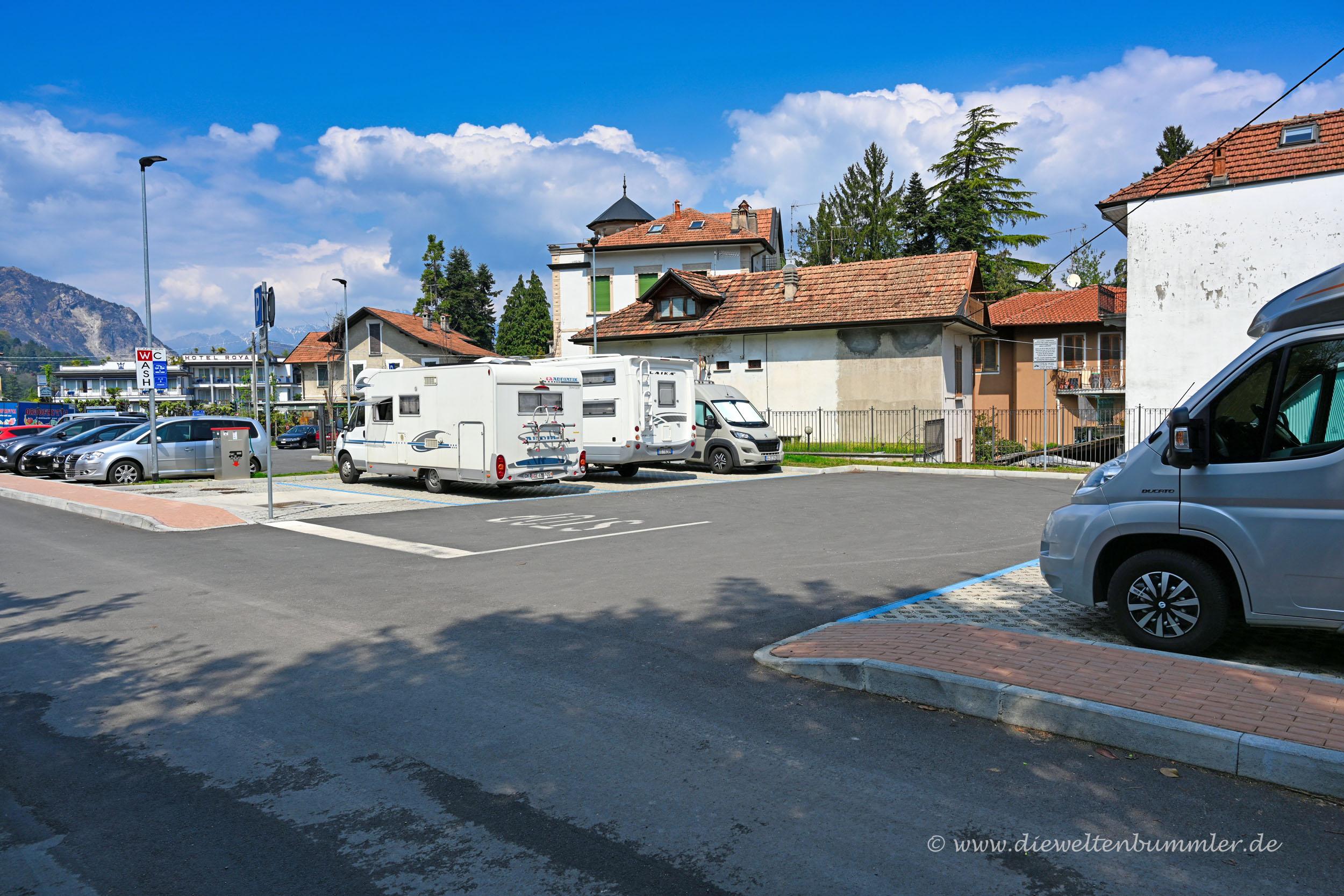Wohnmobilstellplatz in Stresa