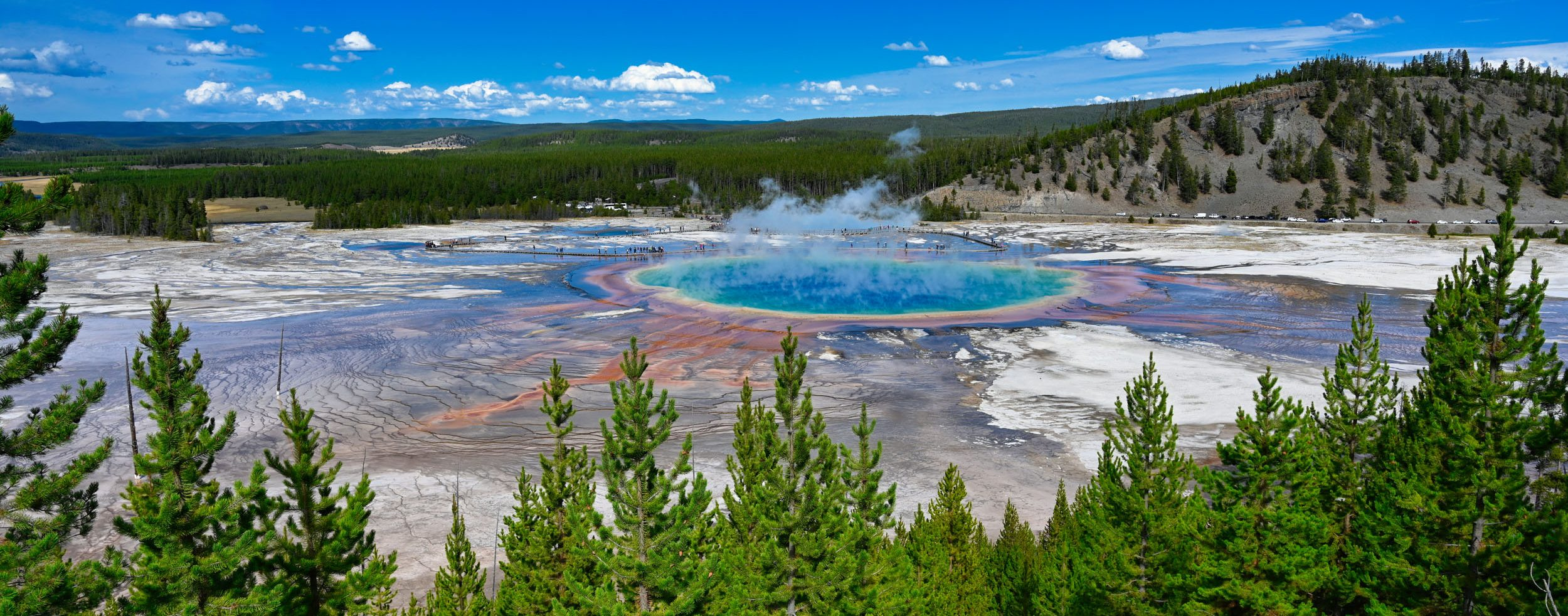 Aussicht im Yellowstone Nationalpark