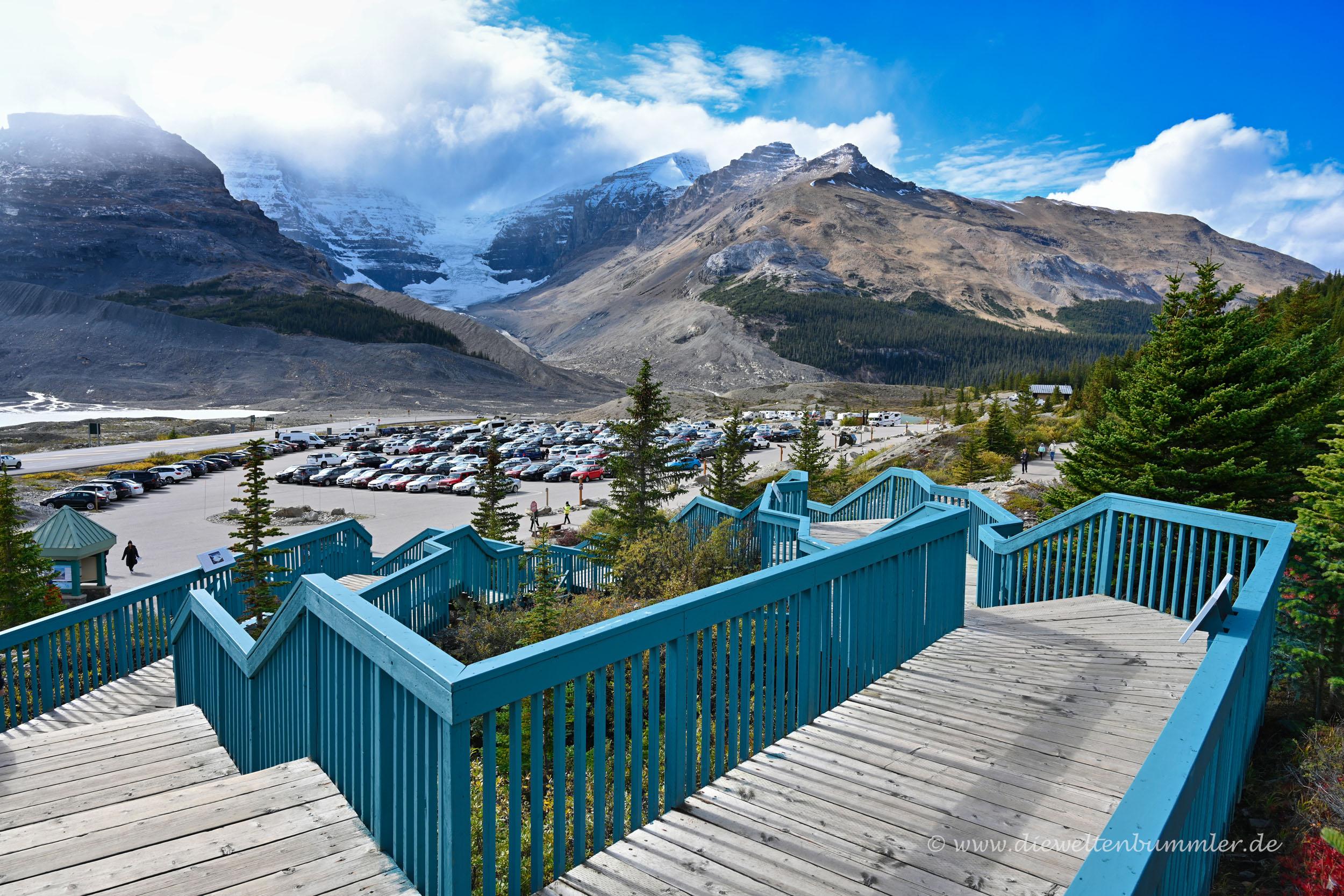 Besucherzentrum mit Gletscher