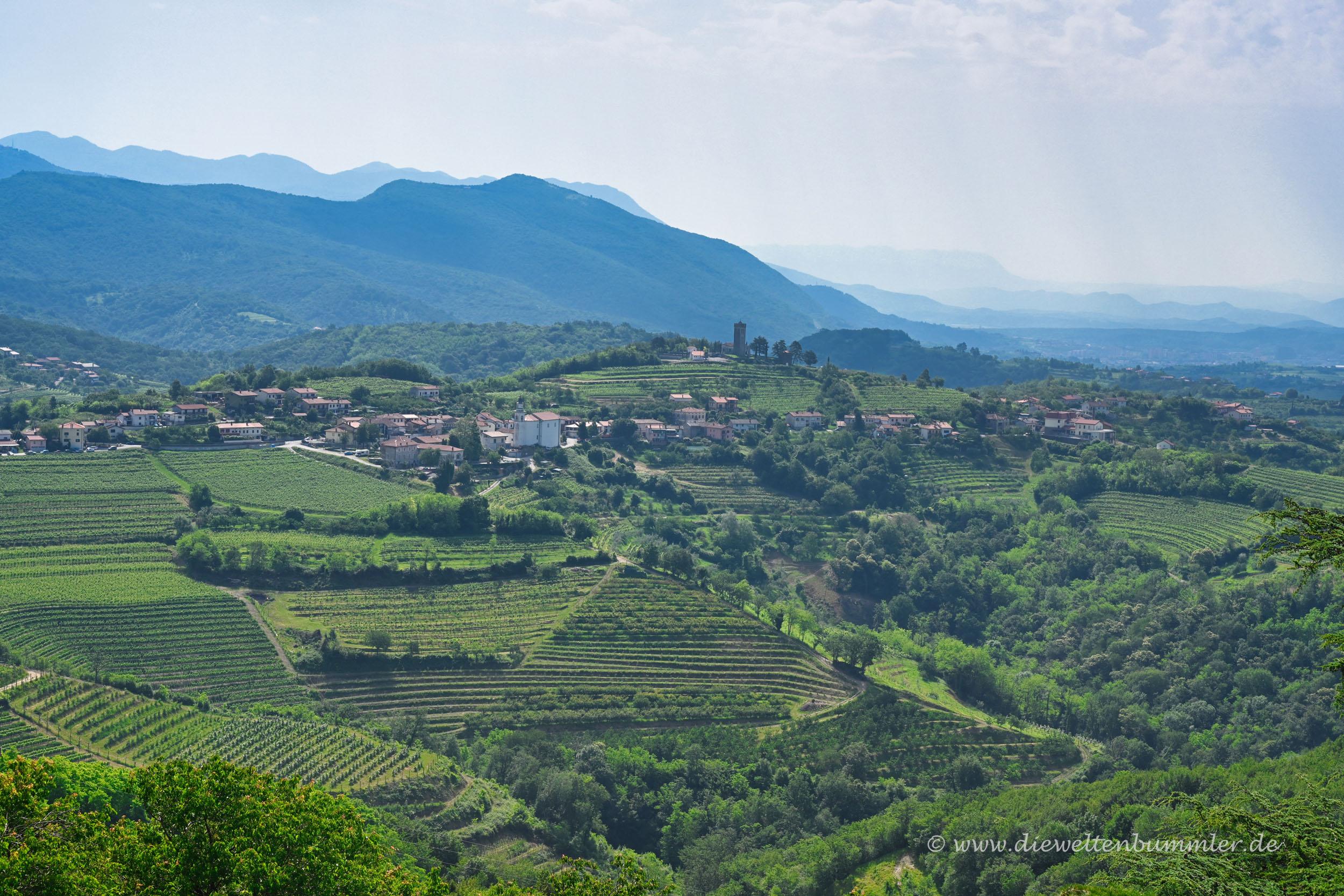 Blick über den Westen Sloweniens