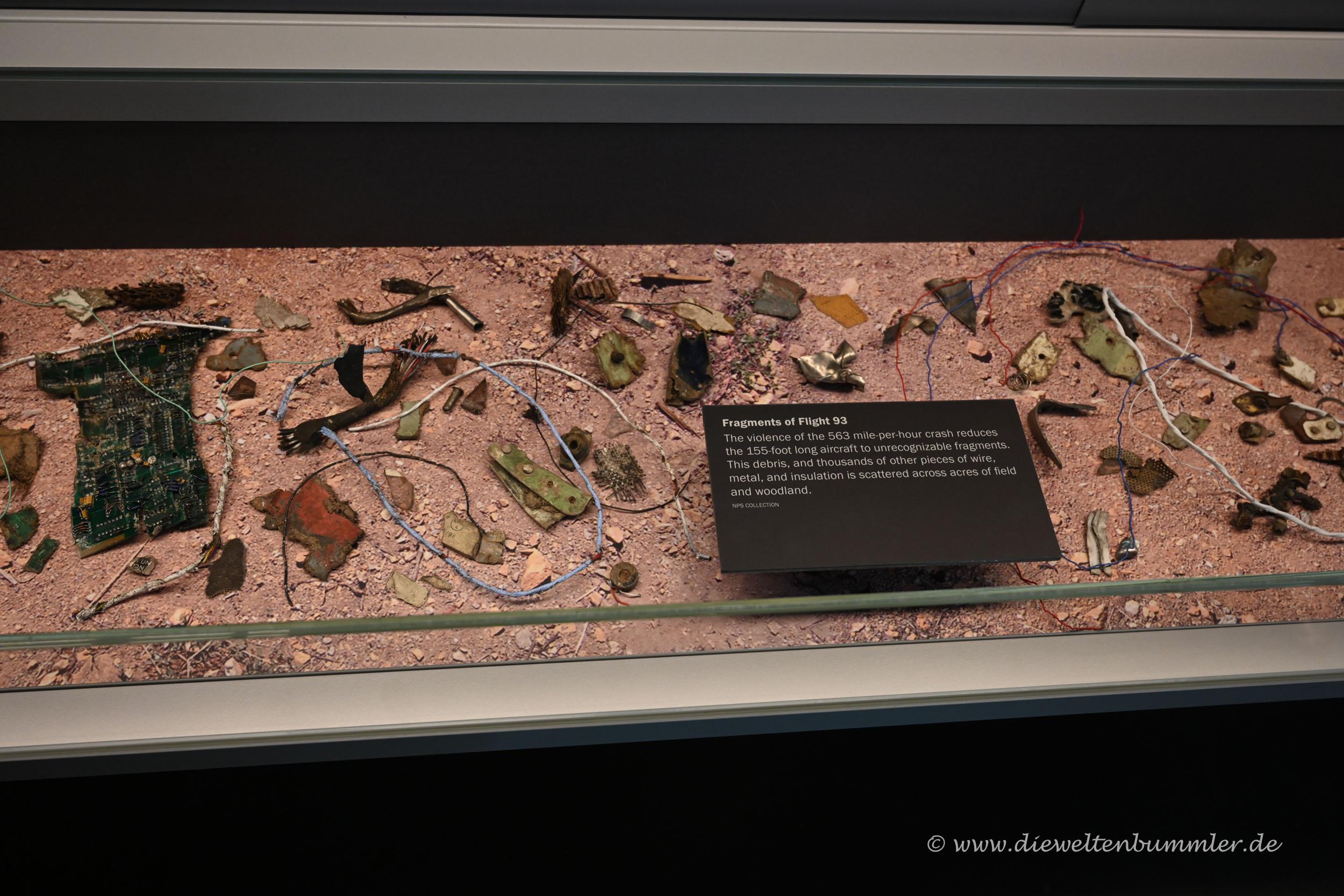 Bruchstücke von Flight 93