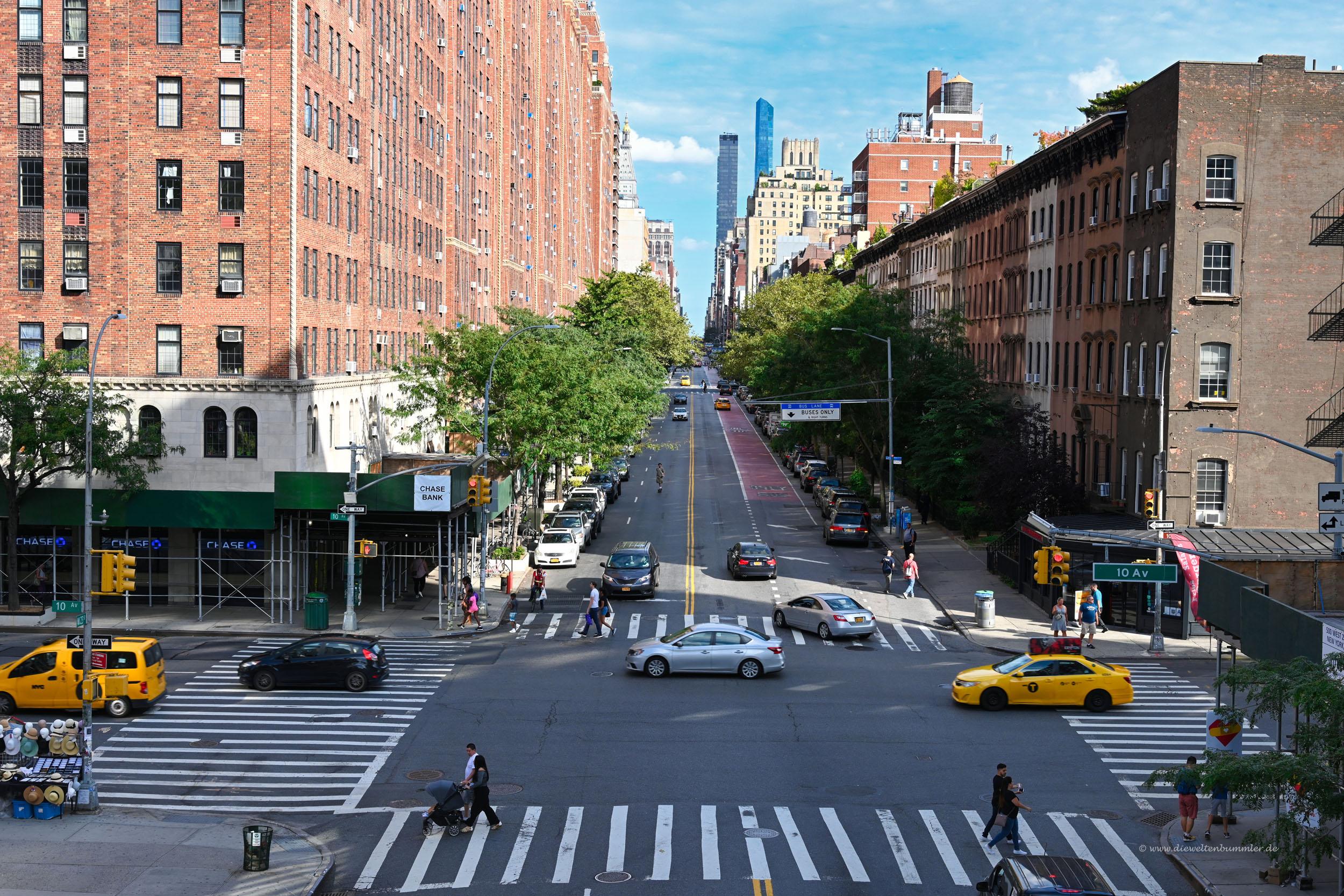 Die 10th Avenue verläuft parallel