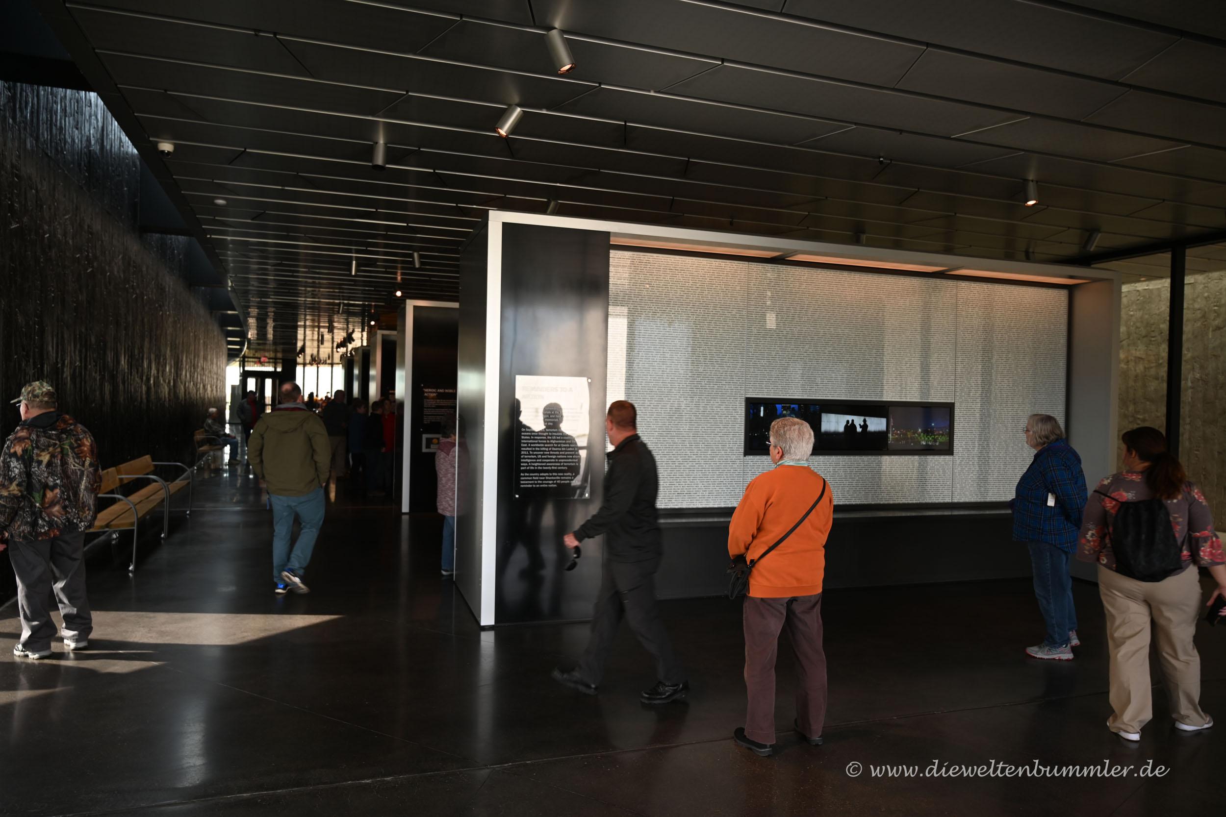Dokumentation im Besucherzentrum