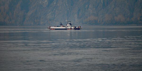 Fähre auf dem Yukon River