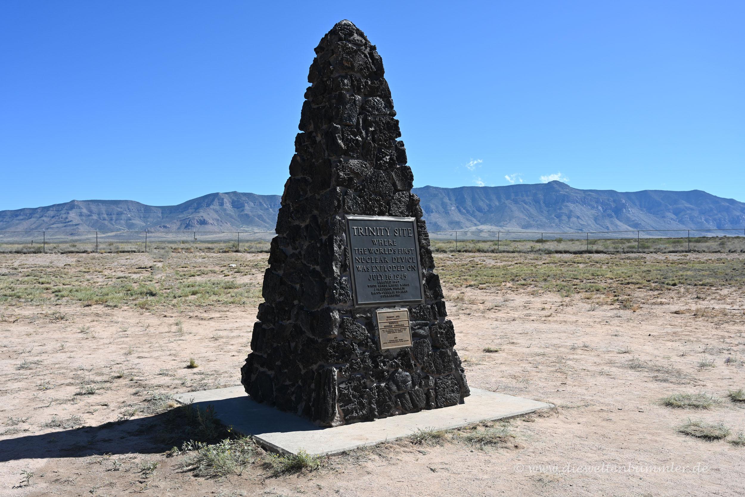 Obelisk an der Trinity Test Site