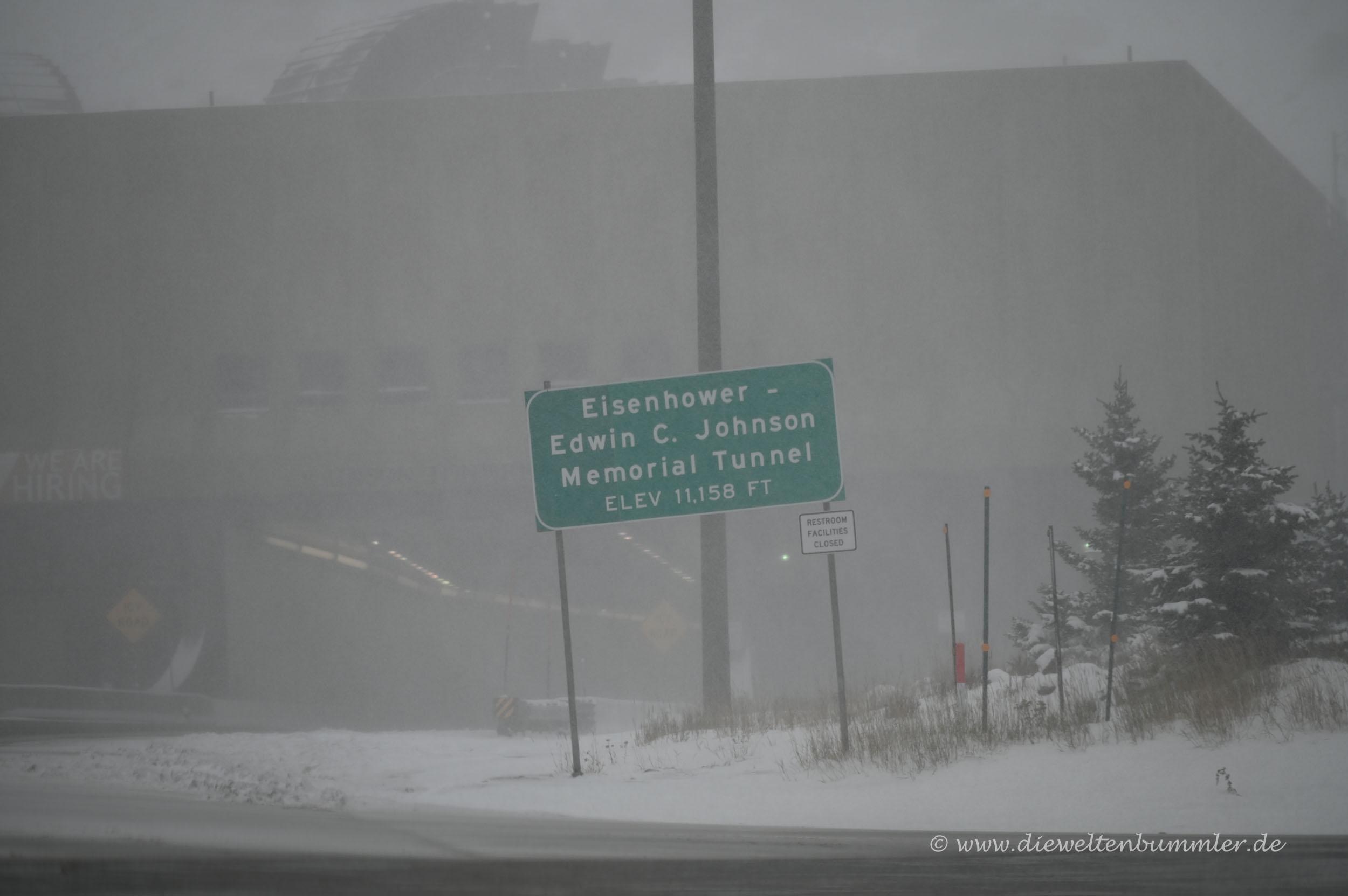 Schneegestöber auf der Interstate