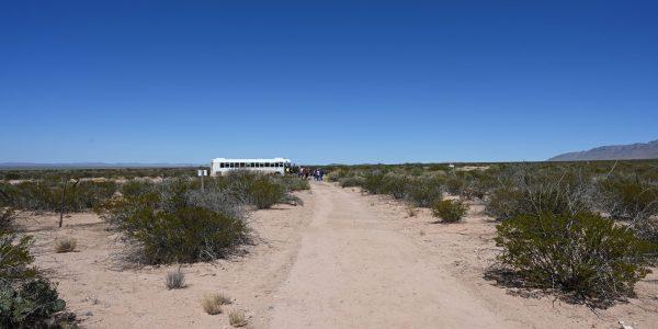 Shuttlebus auf dem Testgelände