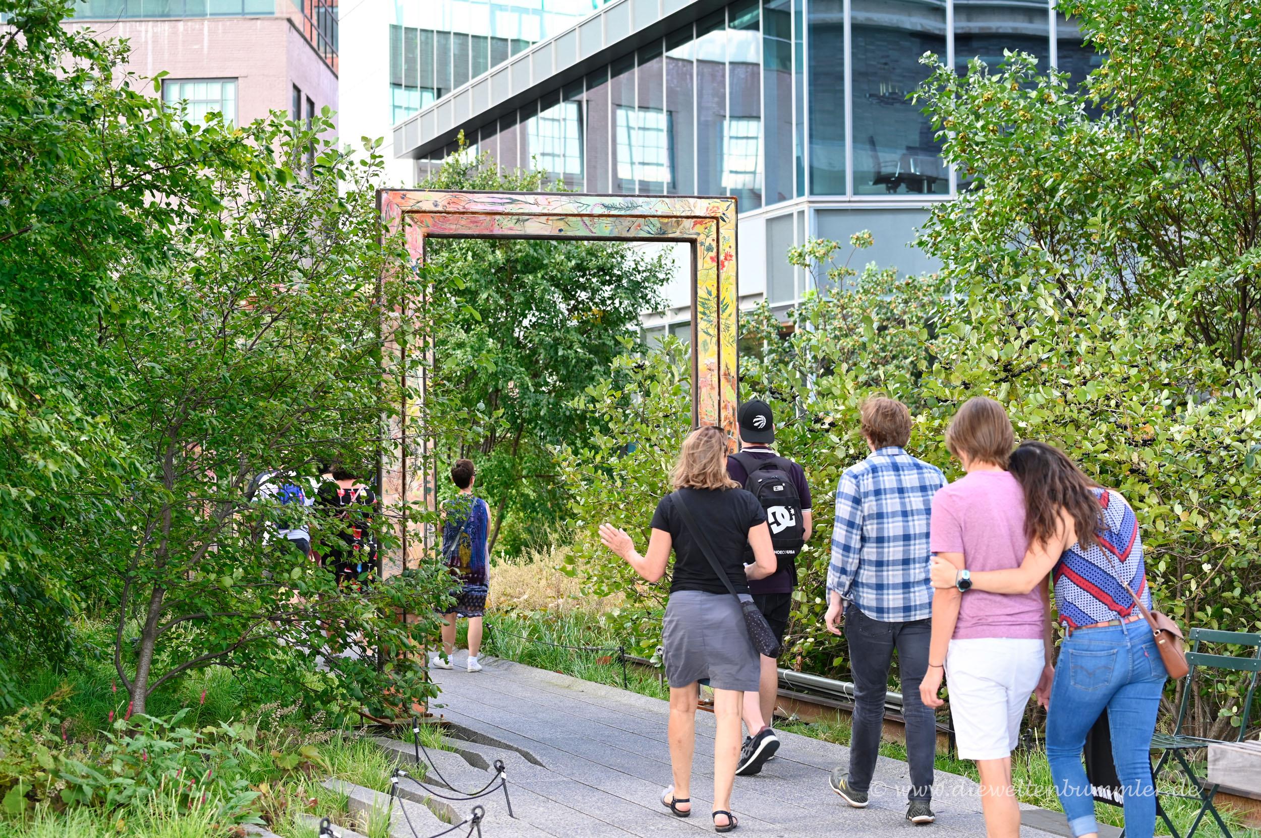 Spazieren auf der Highline