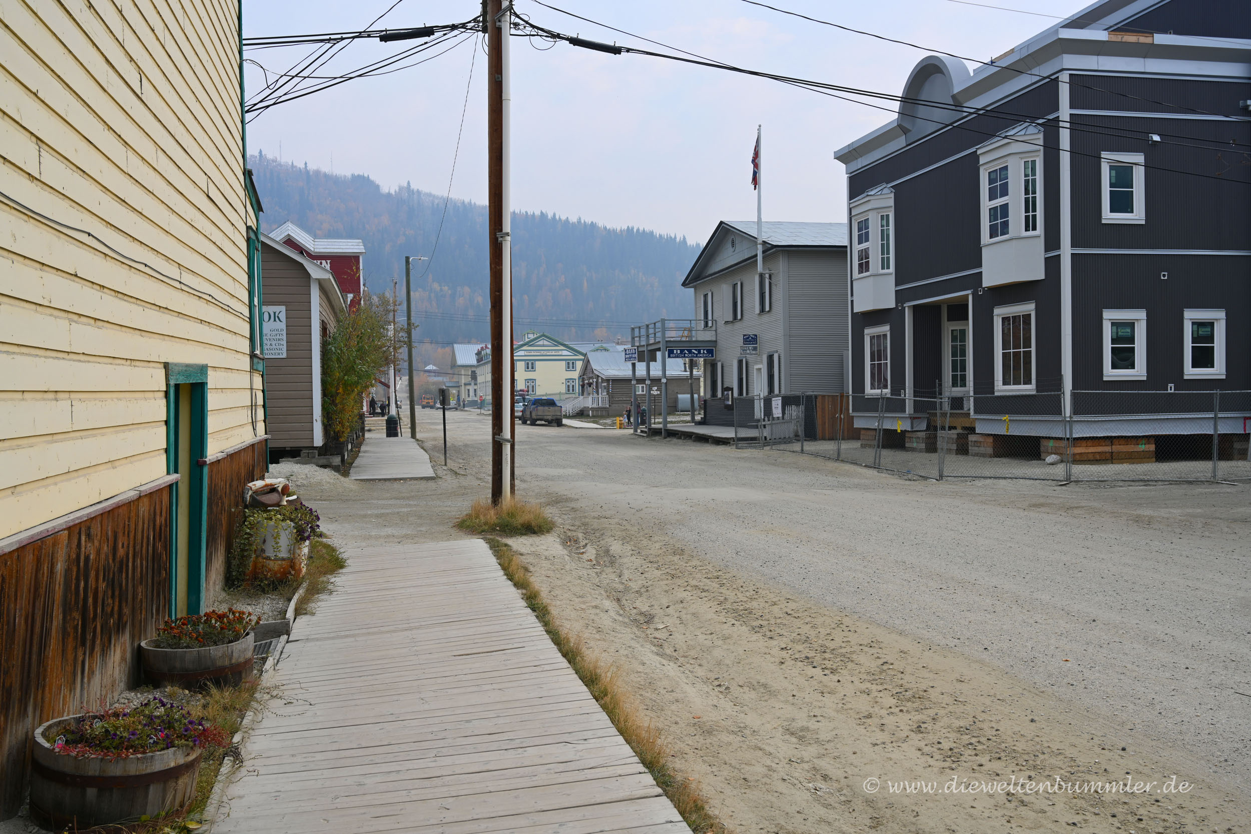 Straße in Dawson