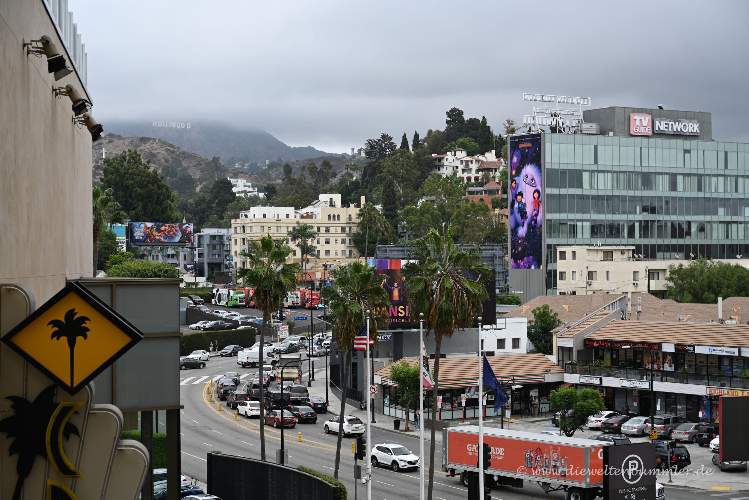 Vom Hollywood Boulevard aus gesehen