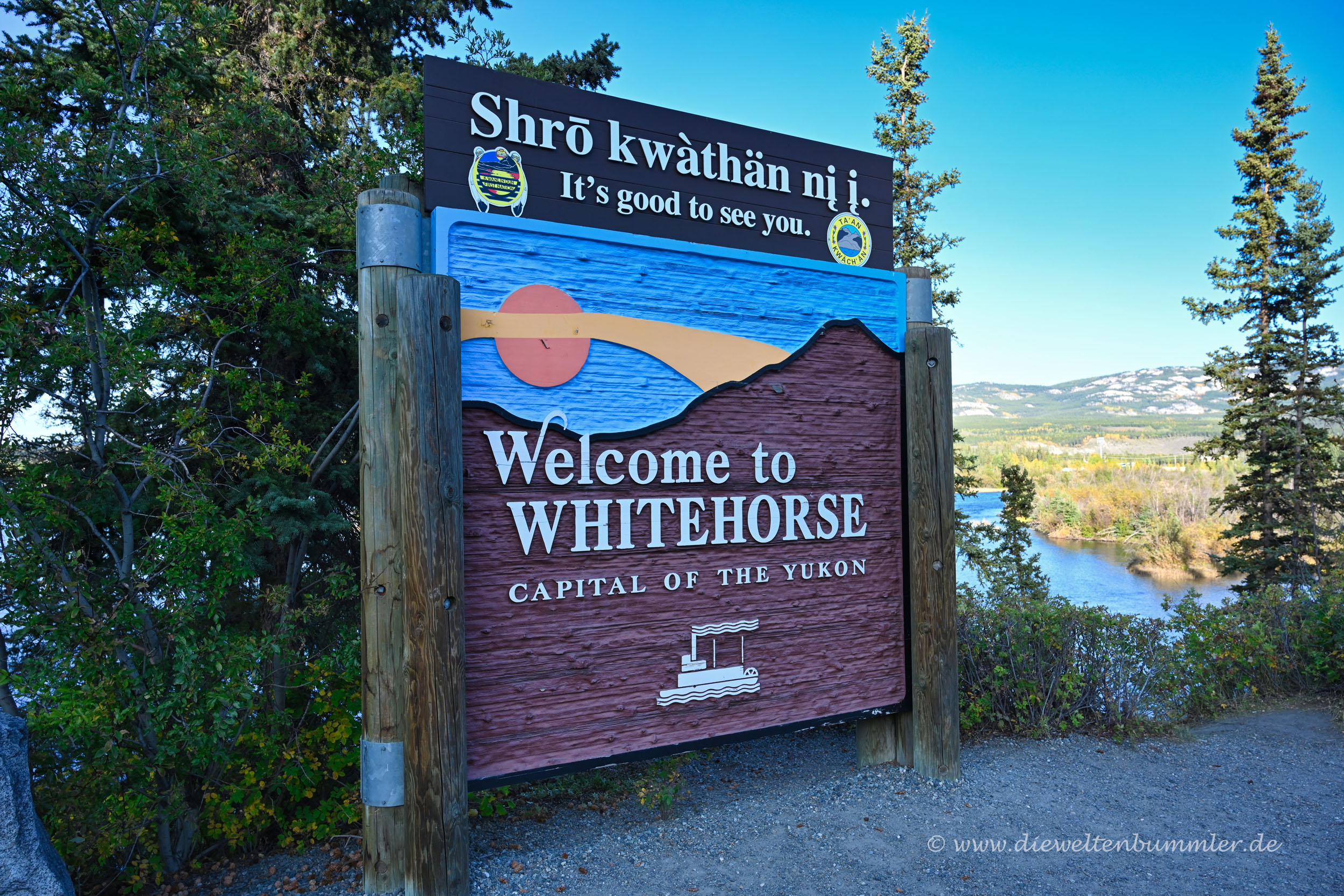 Willkommen in Whitehorse im Yukon