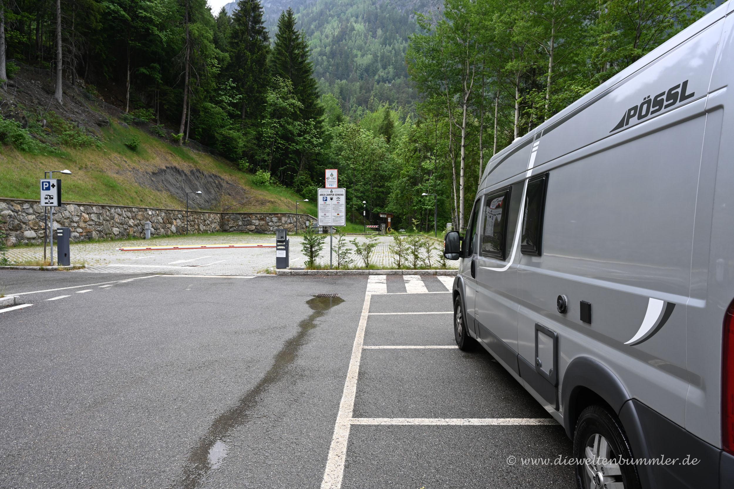 Wohnmobilstellplatz im Aostatal