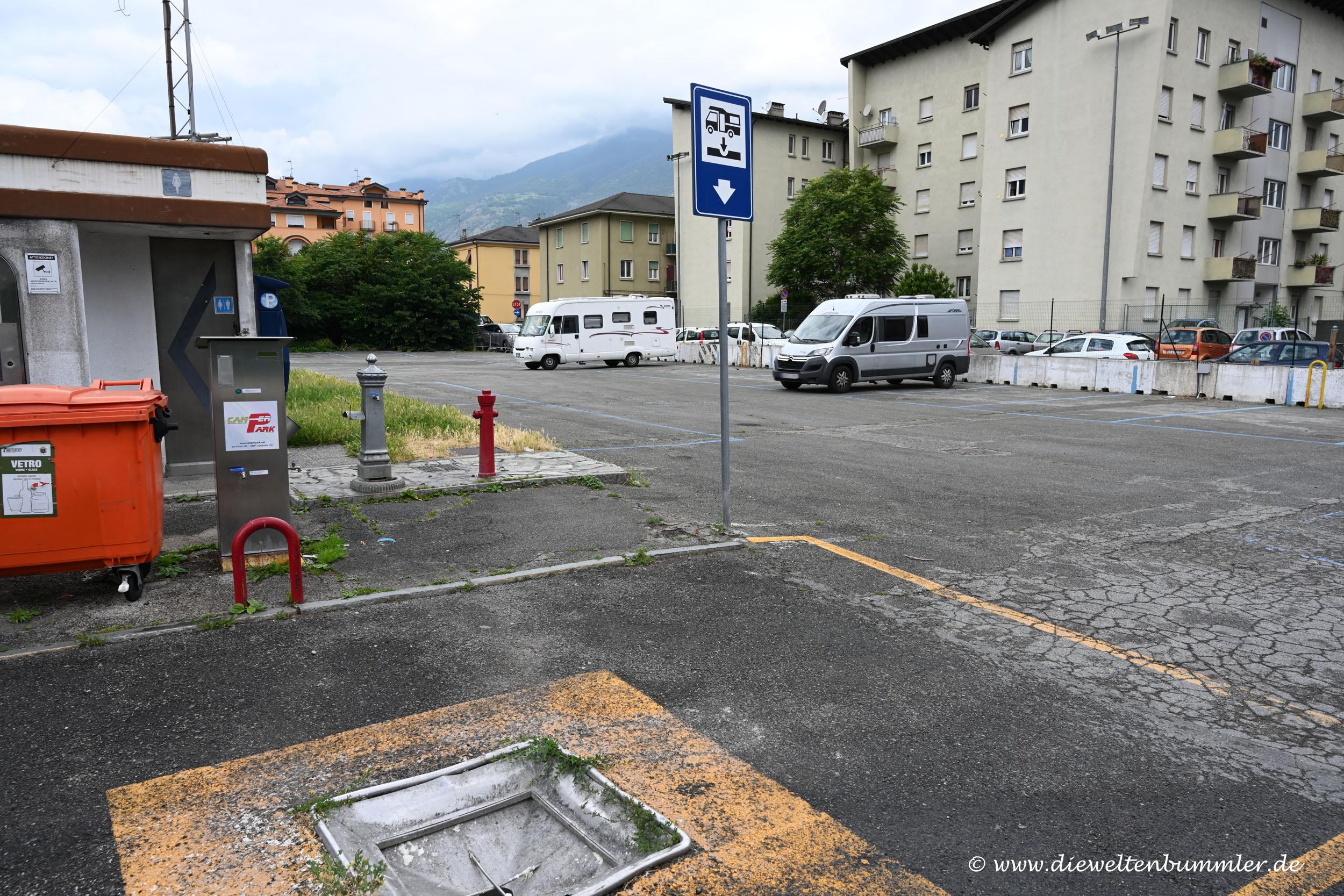 Wohnmoblistellplatz in Aosta