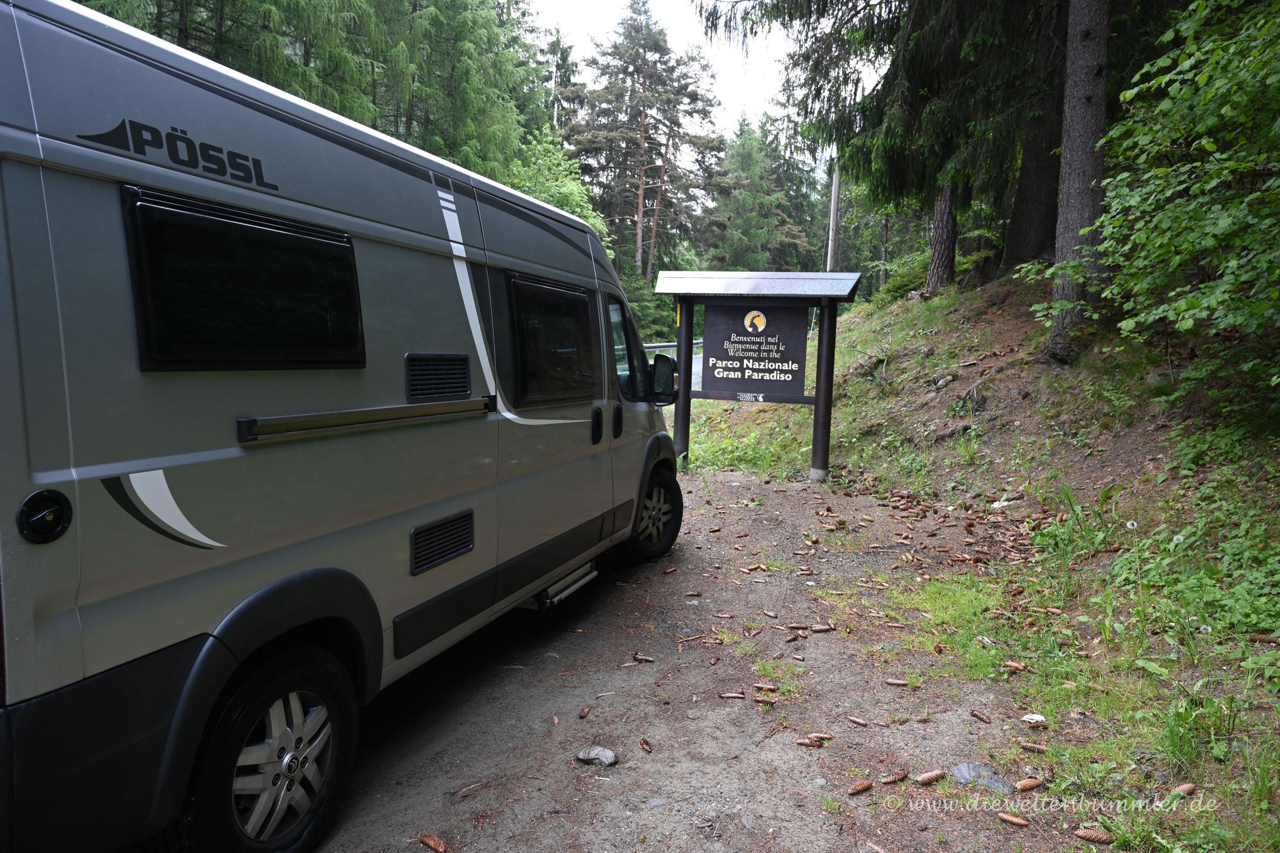 Zufahrt zum Gran Paradiso Nationalpark