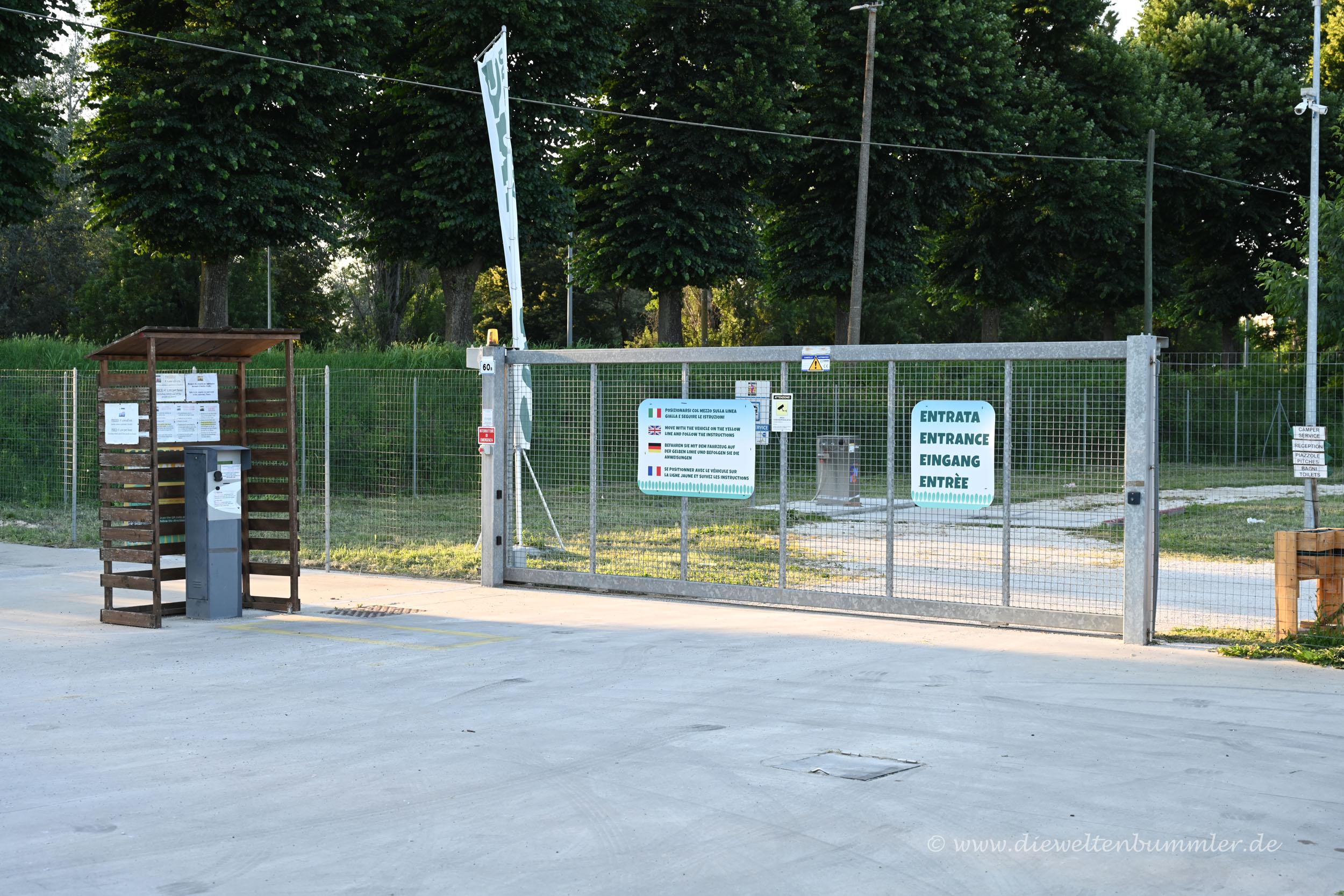 Zugang zum Stellplatz