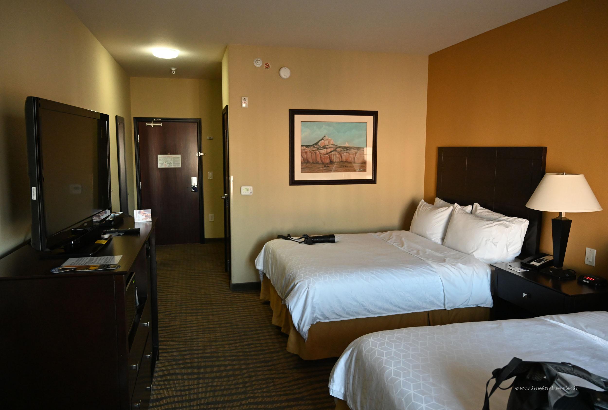 Das Hotelzimmer vor dem Alarm