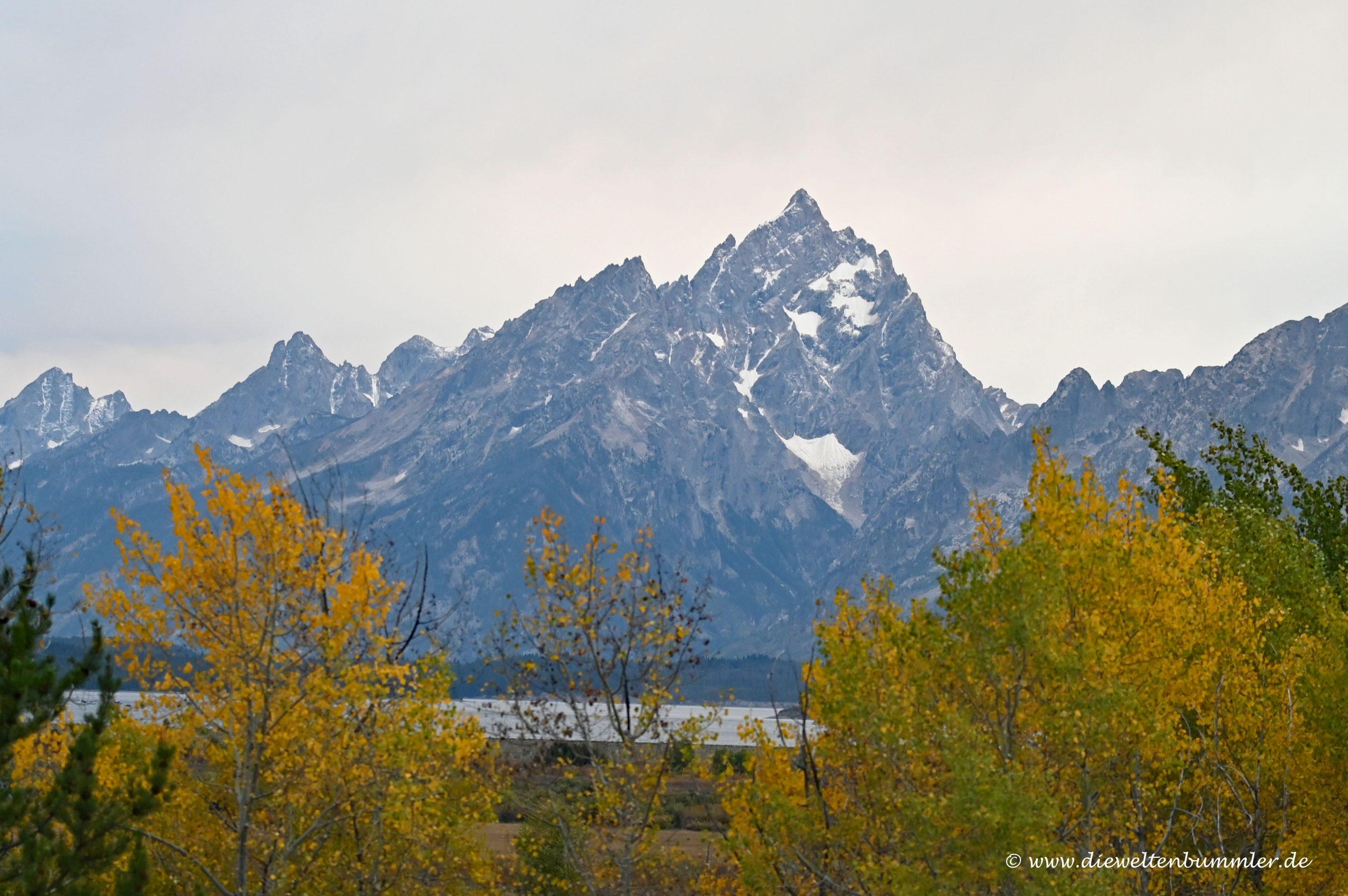 Der höchste Berg heißt Grand Teton