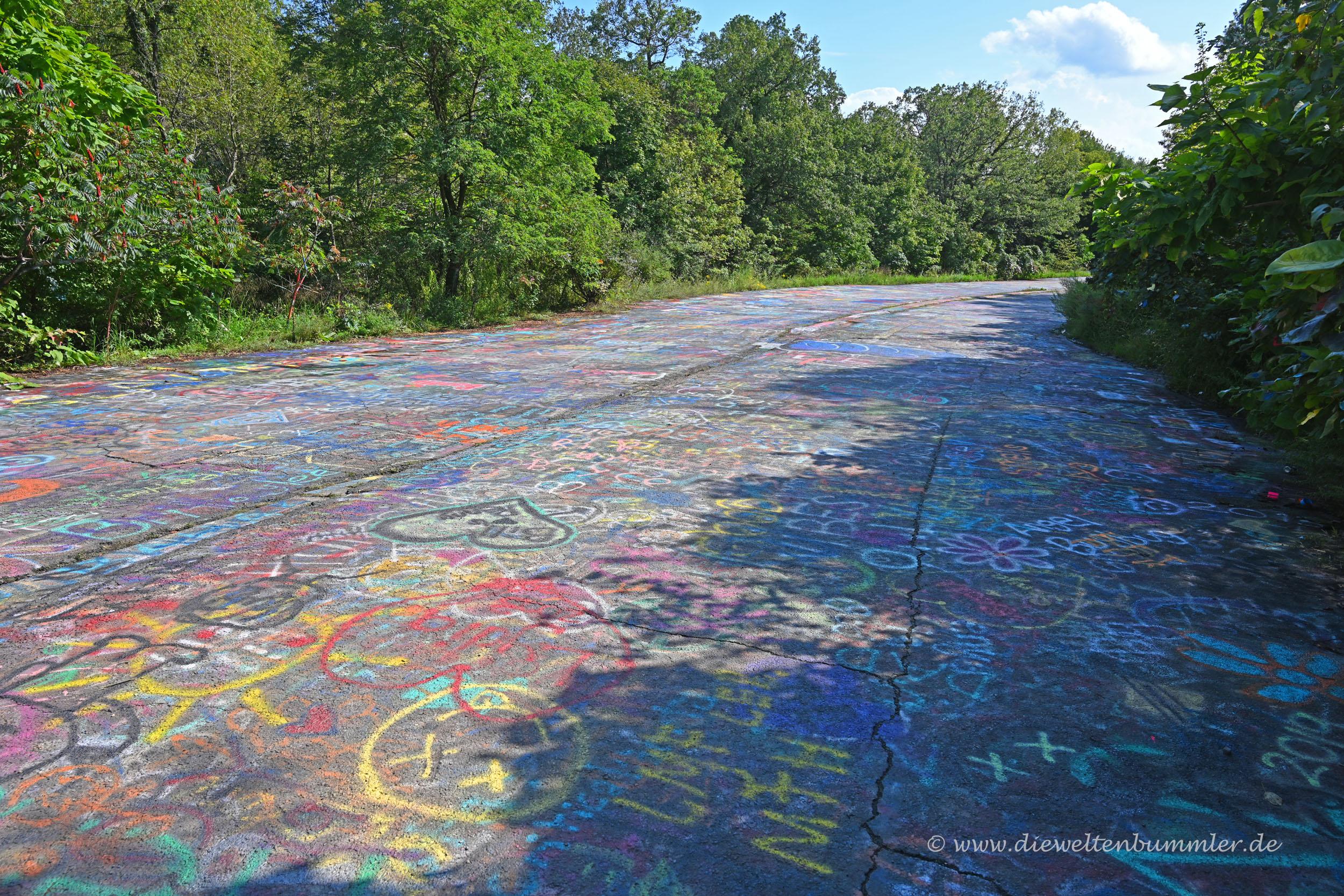Farbenprächtig auf einen Kilometer Länge