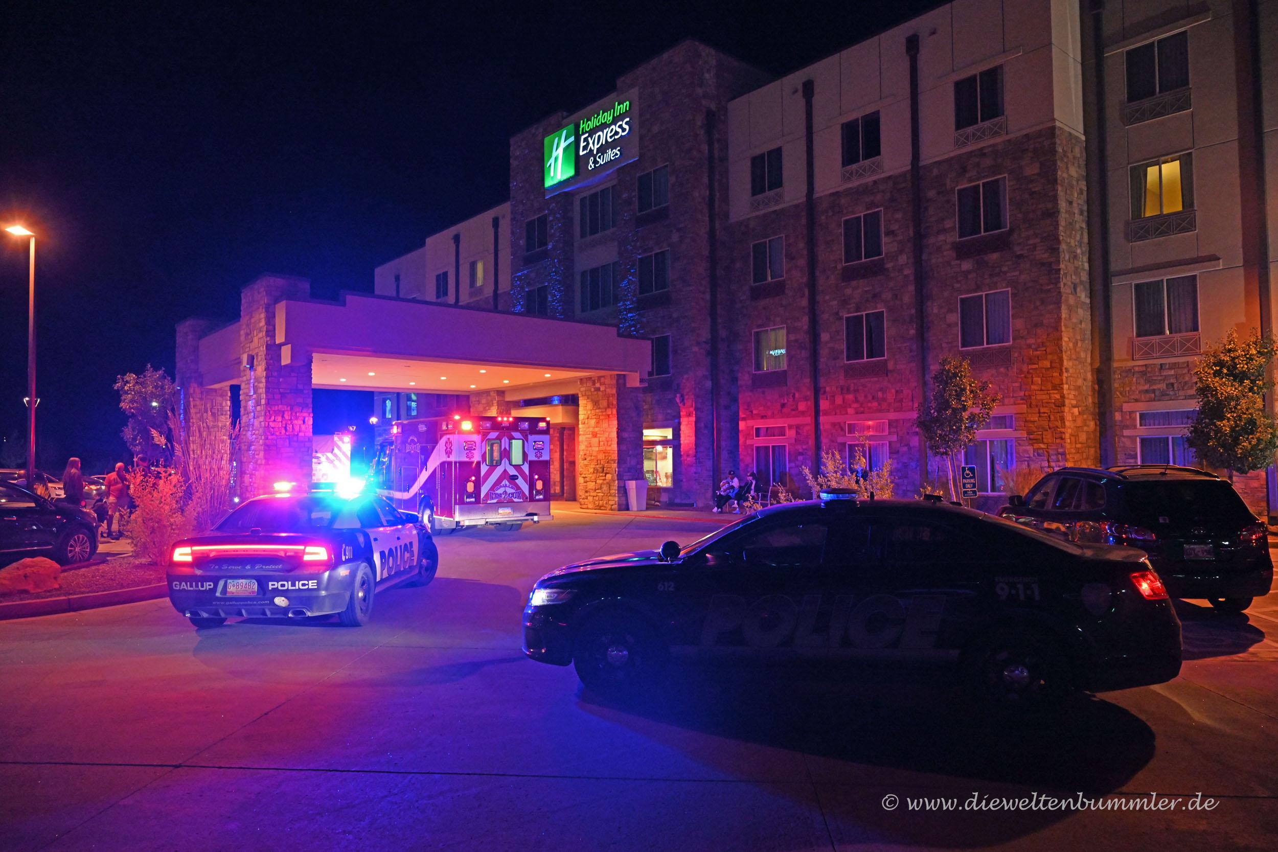Feueralarm in unserem Hotel