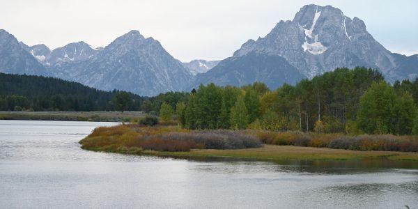 Jackson Lake und Berge