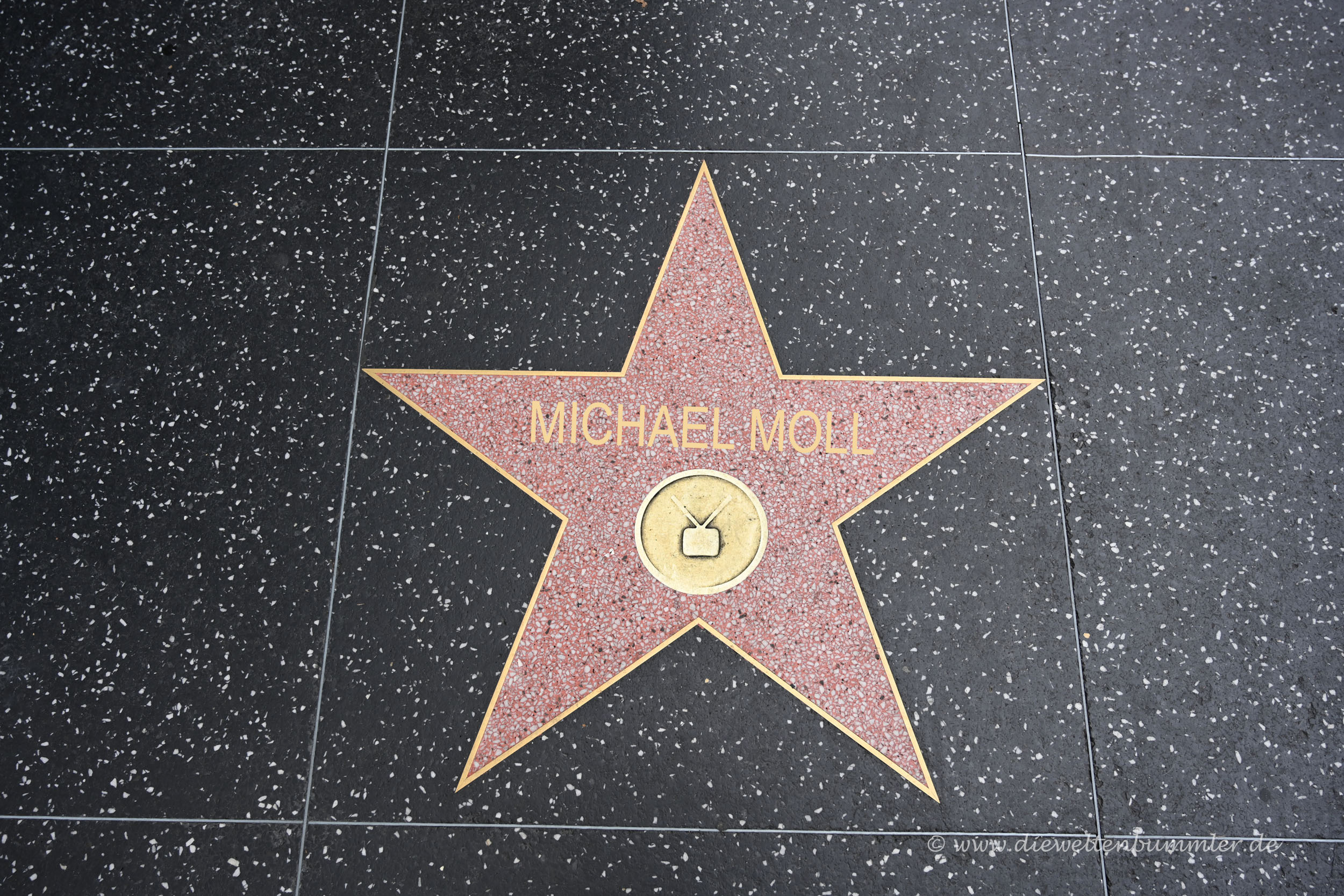 Michael Moll auf dem Walk of Fame