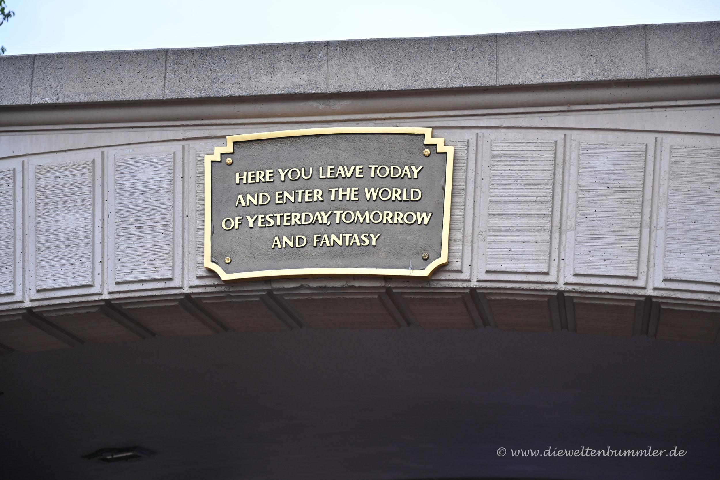 Motto für das Disneyland