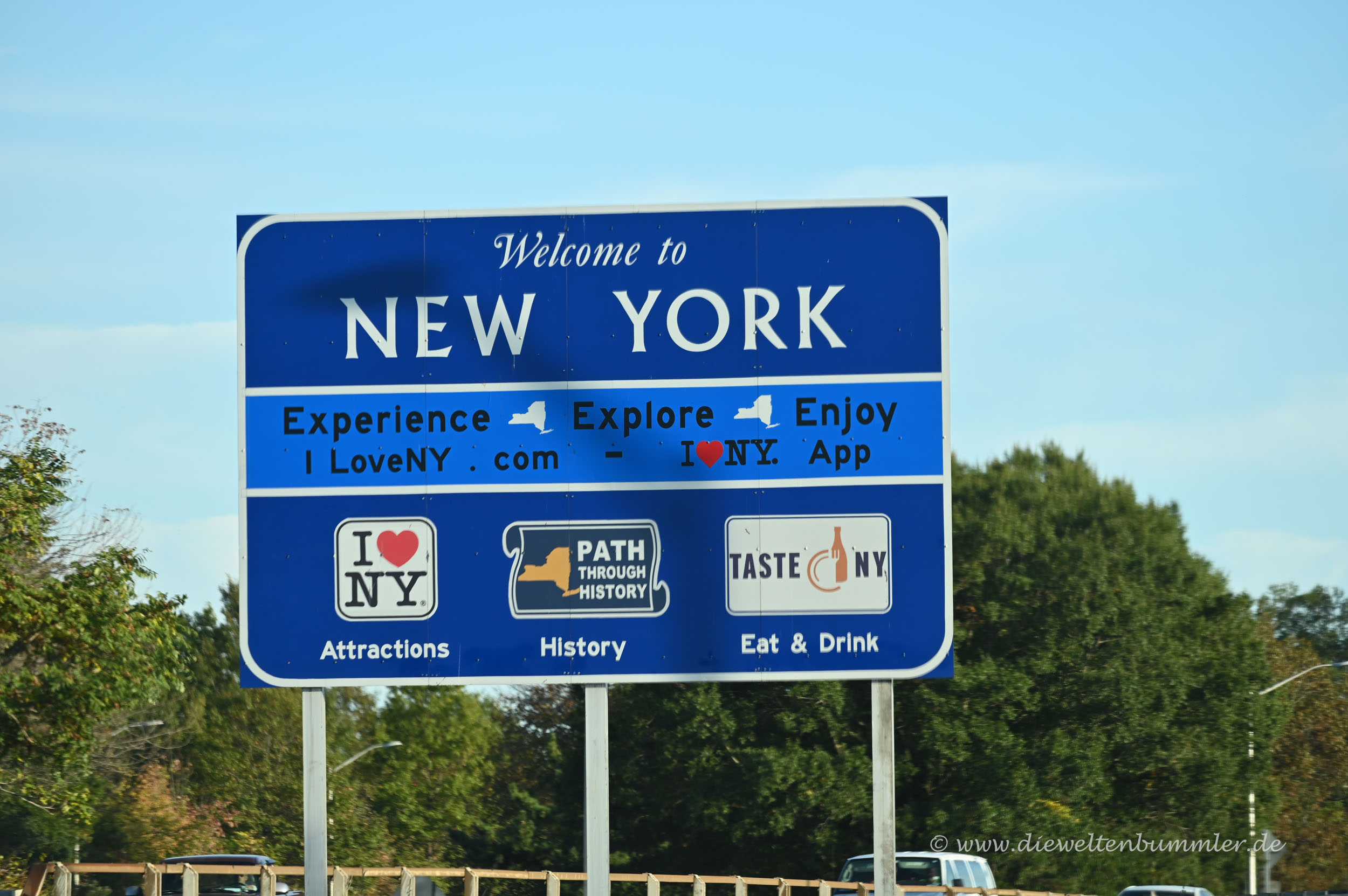 Neues Schild von New York