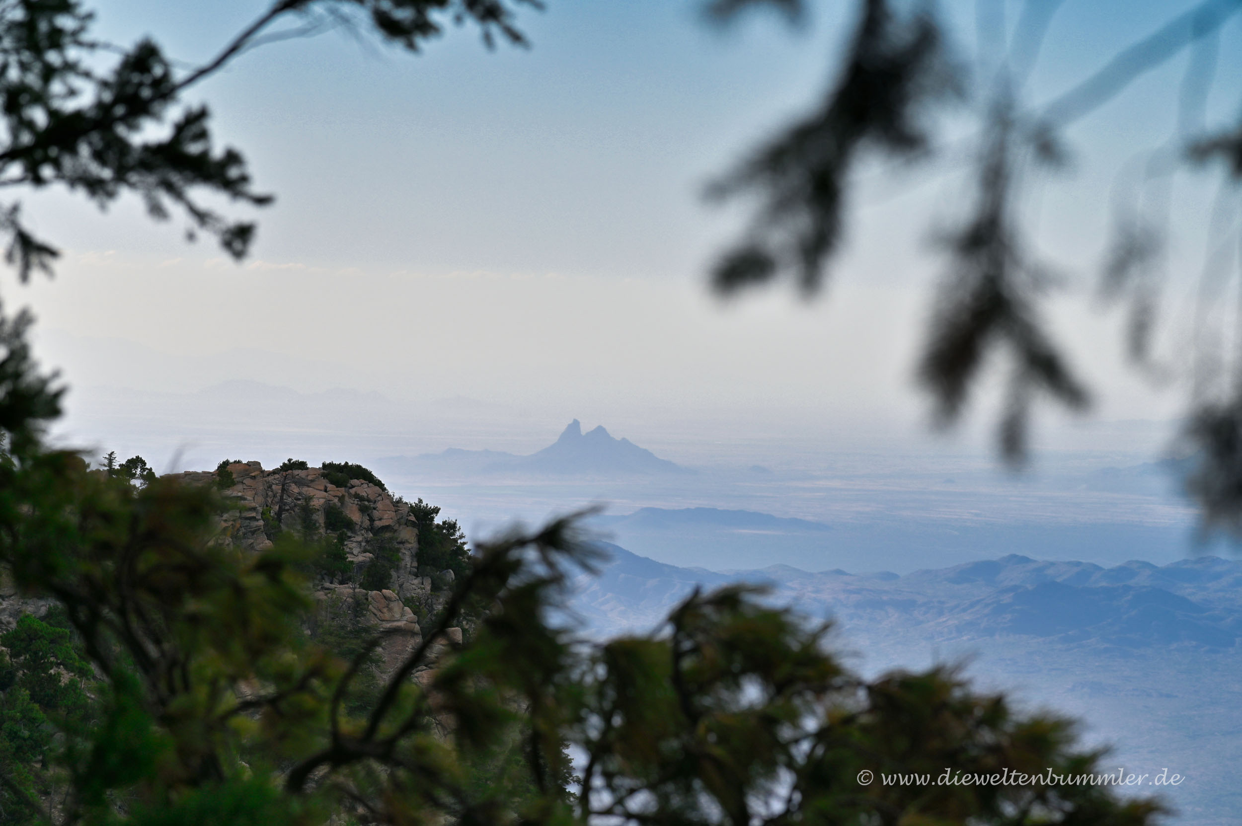 Picacho Peak in 60 km Entfernung