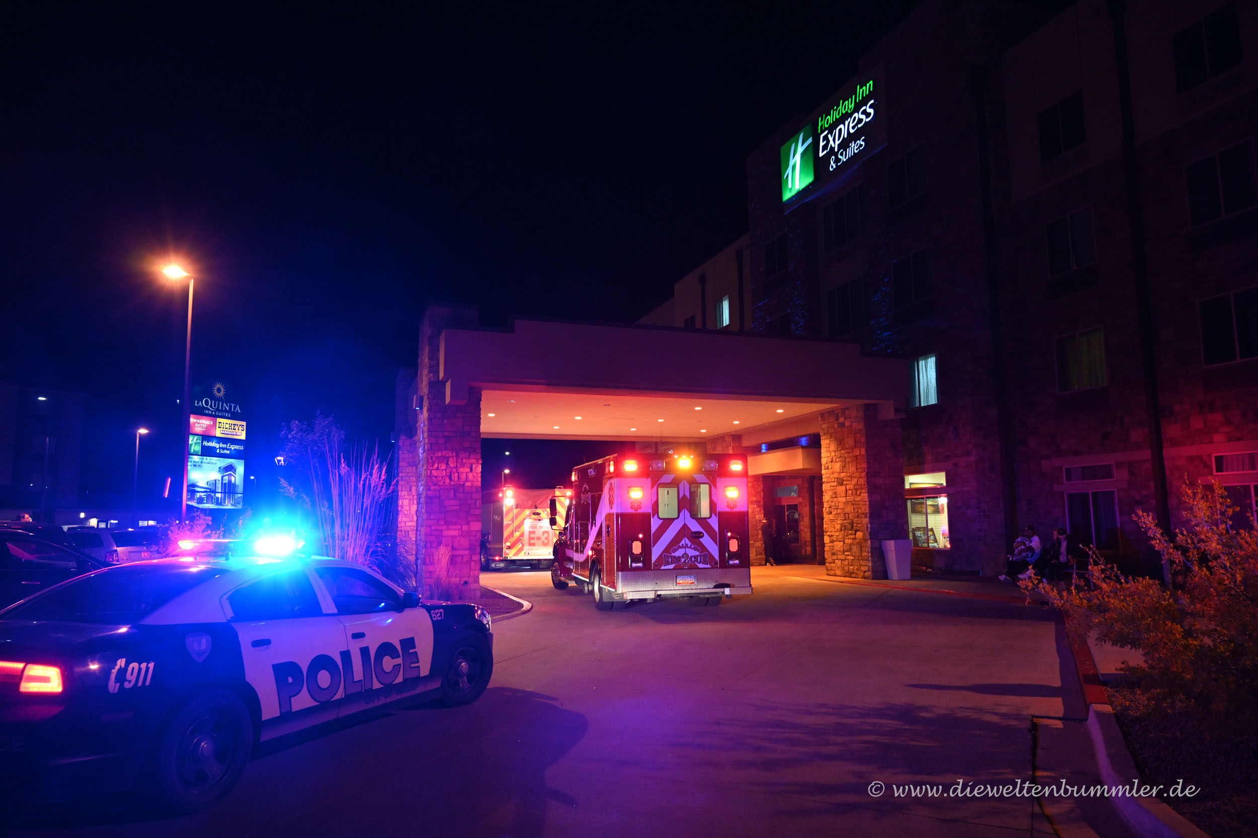 Polizei und Feuerwehr im Einsatz