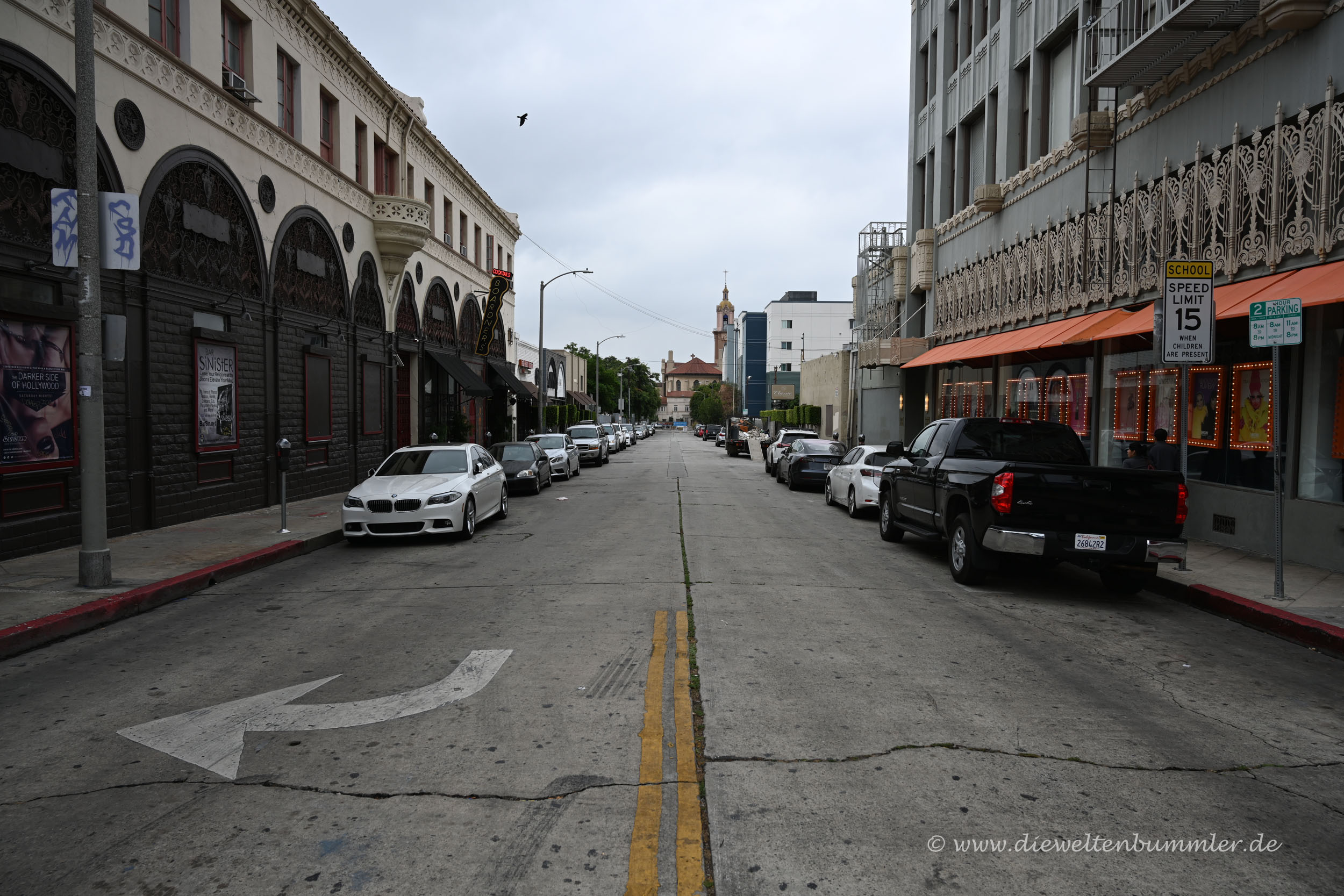 Seitenstraße am Hollywood Boulevard
