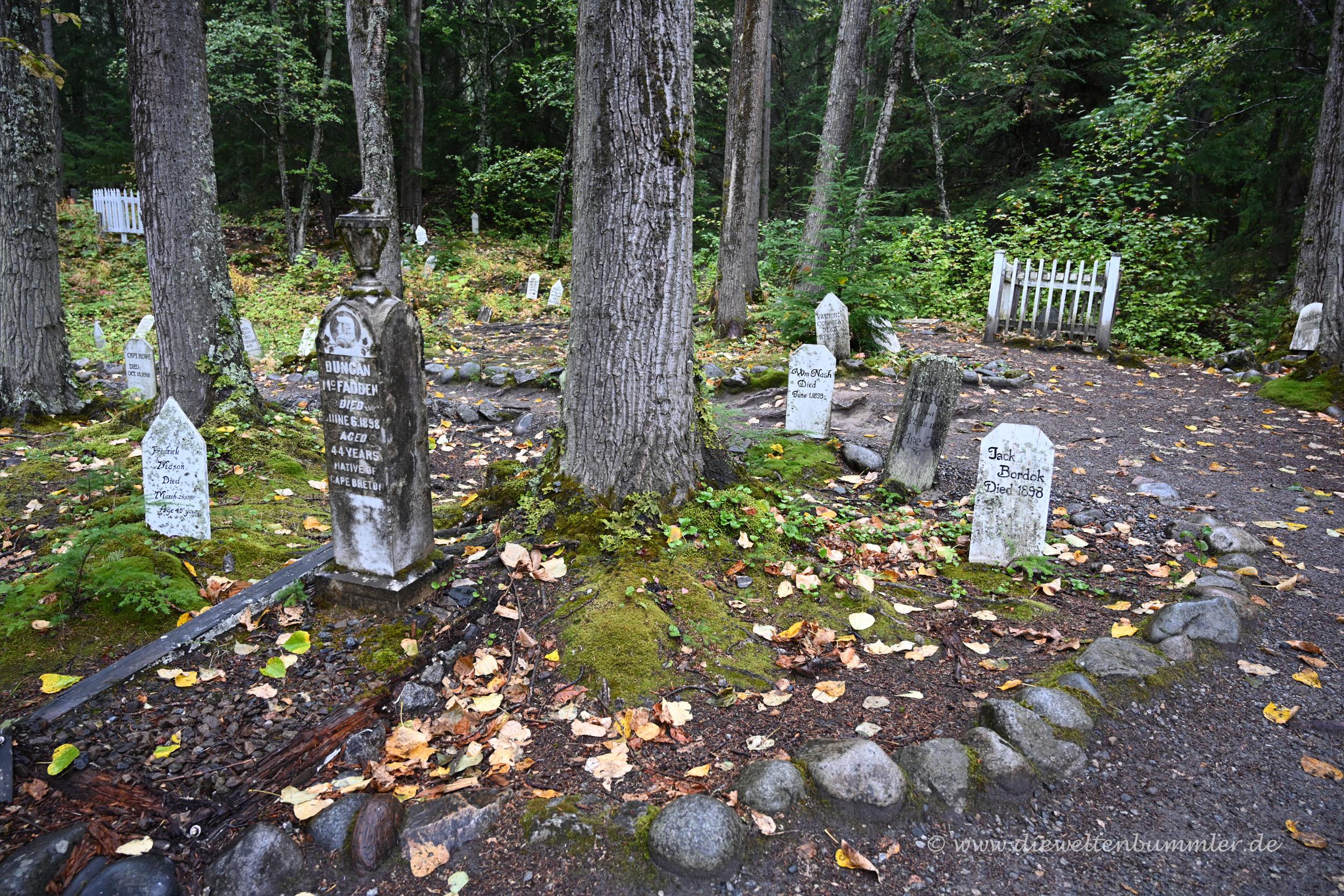 Zahlreiche Grabsteine