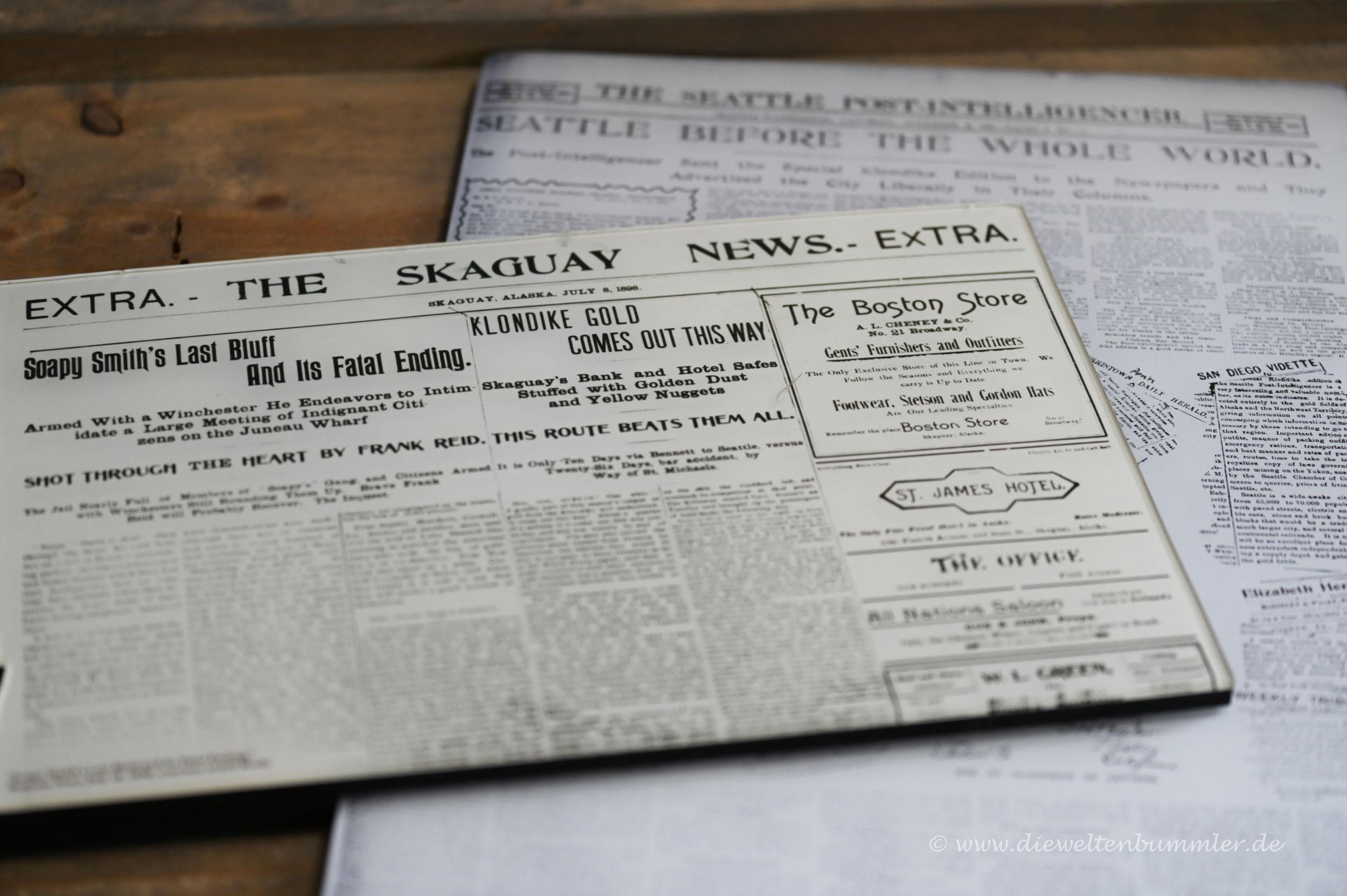 Zeitung von 1898