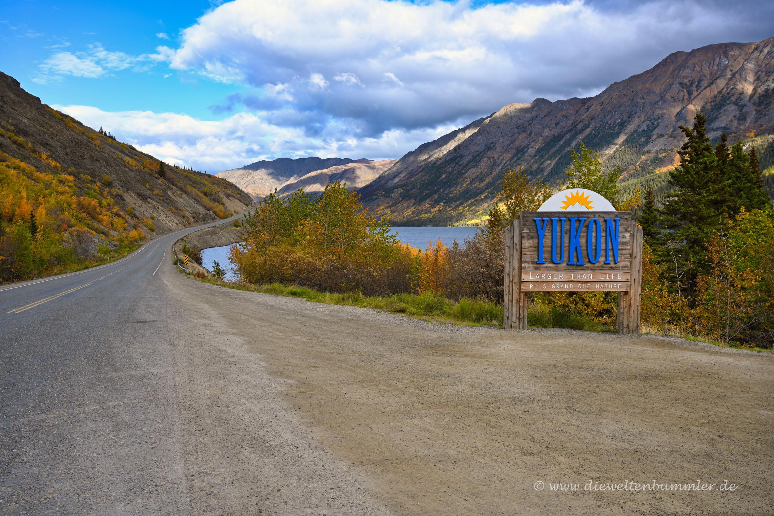 Grenze zwischen Yukon und British Columbia