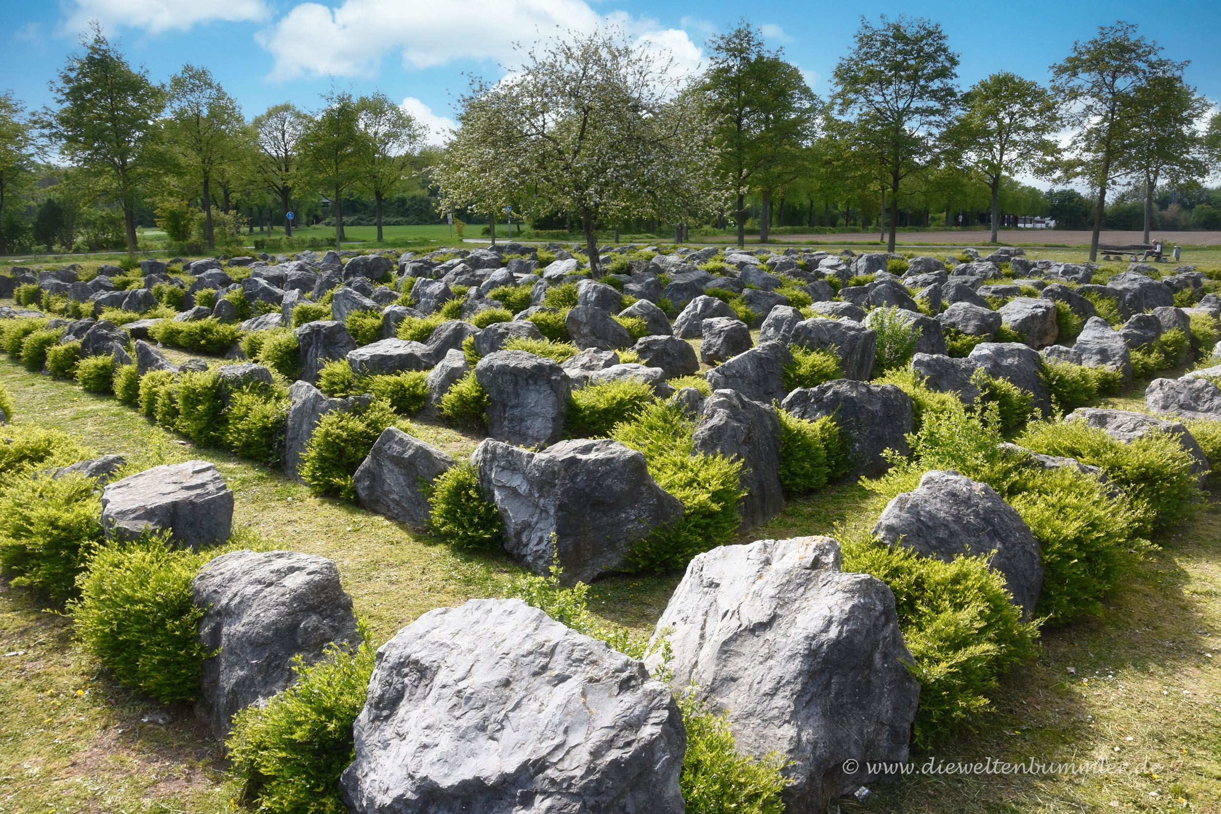 Labyrinth als Mittelpunkt